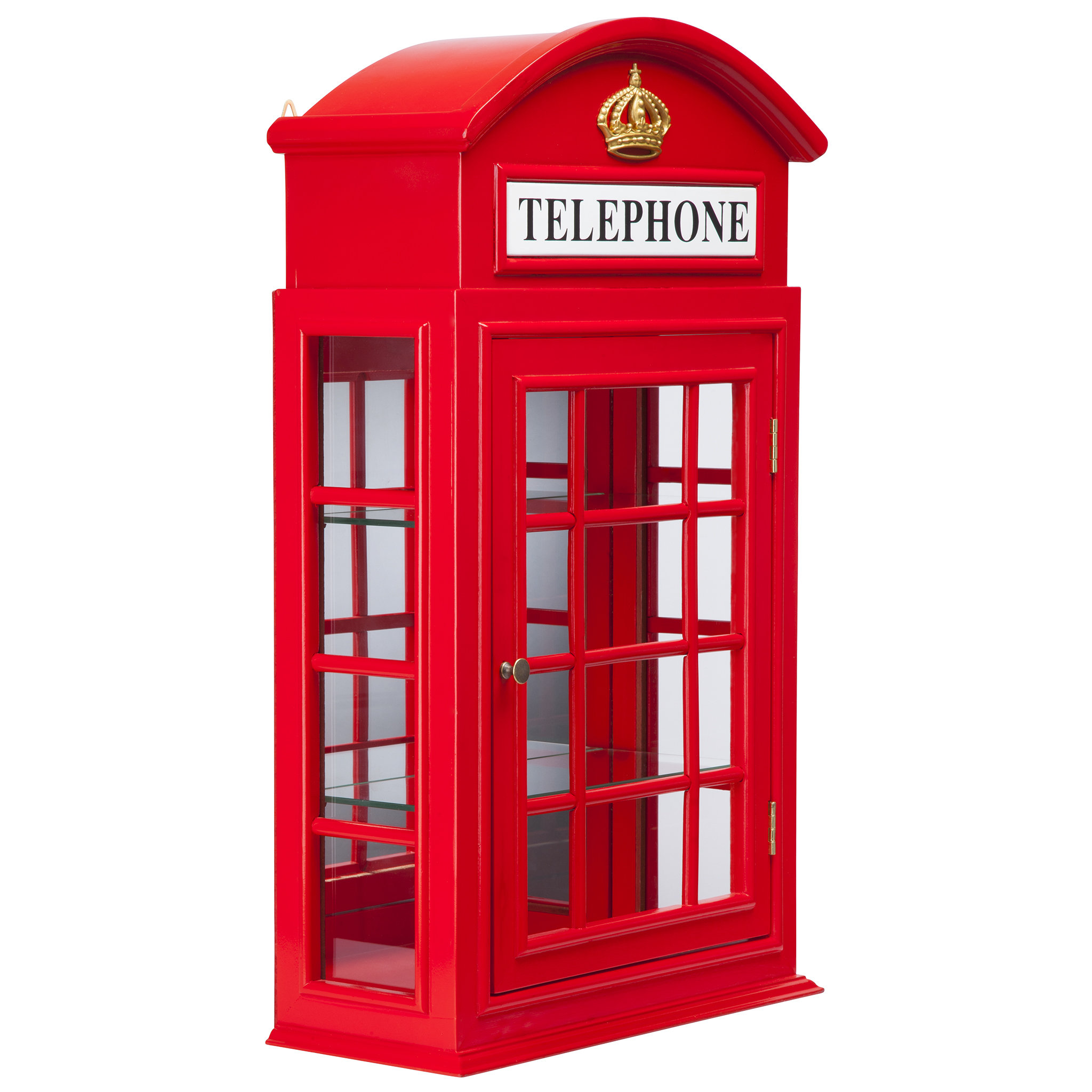 Design Toscano Piccadilly Circus British Telephone Booth Wall Curio ...