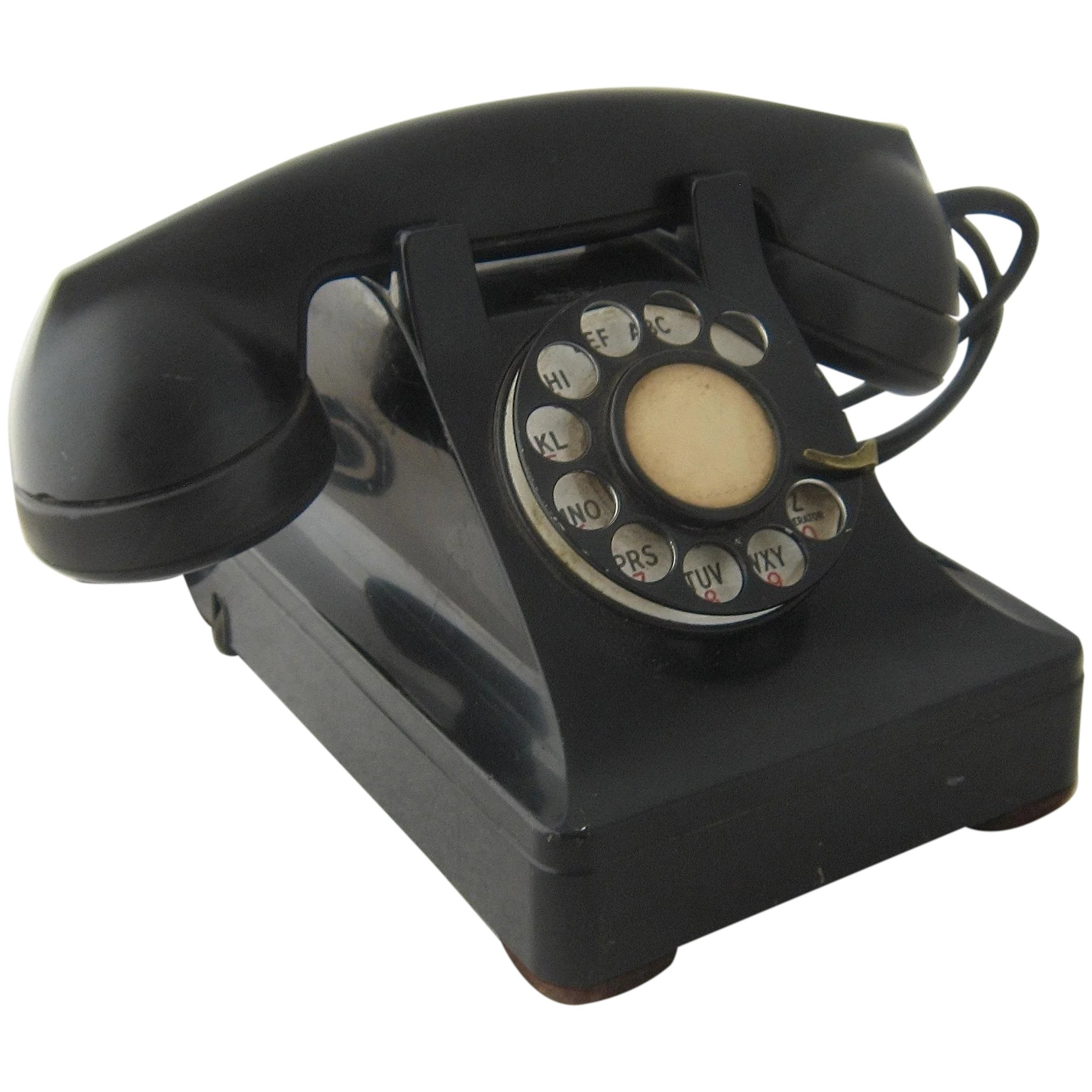1940s Western Electric Black Desk Telephone Rotary Dial : Mendocino ...