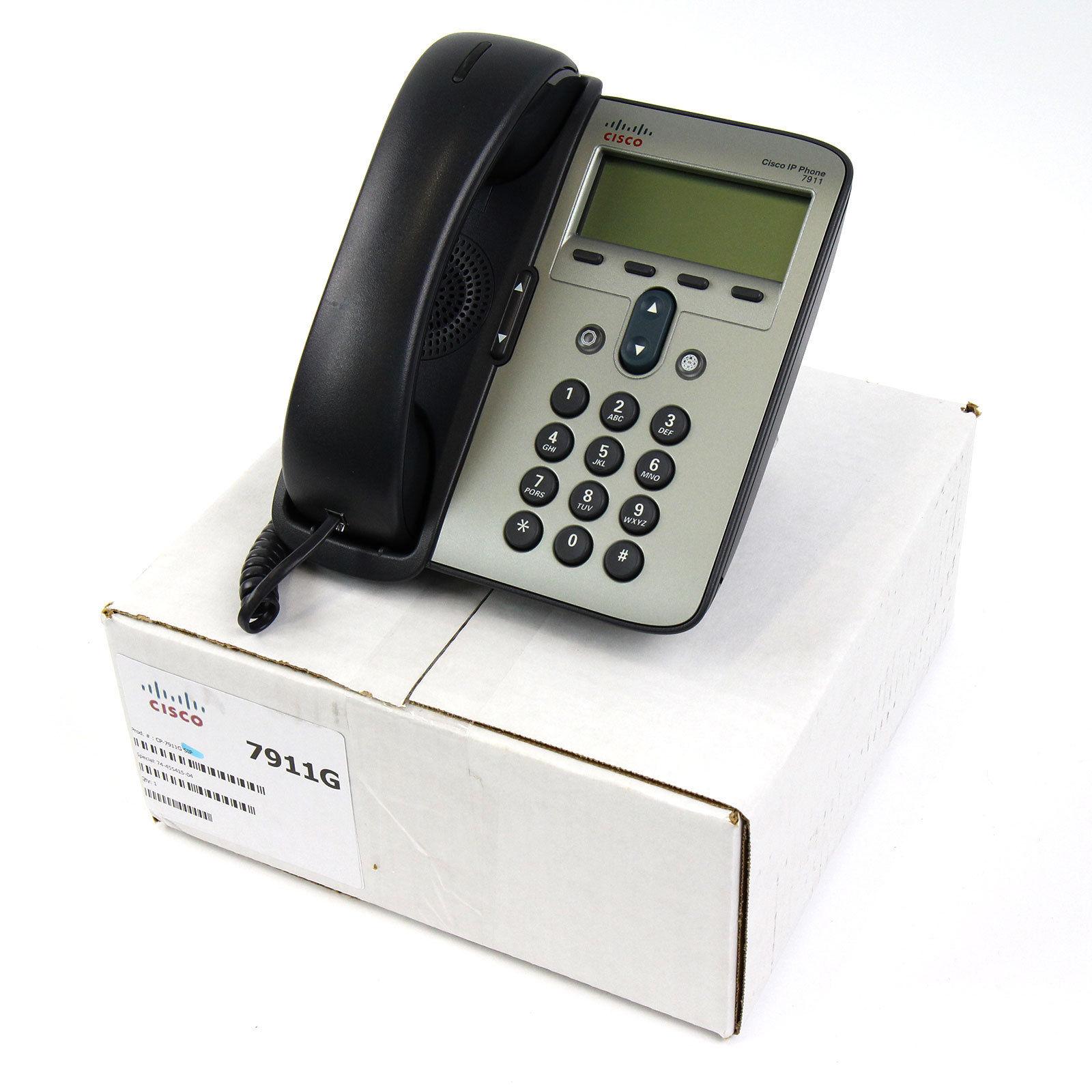 Cisco CP-7911G 7911 SIP IP Telephone PoE - Lot 1828631036361 | eBay