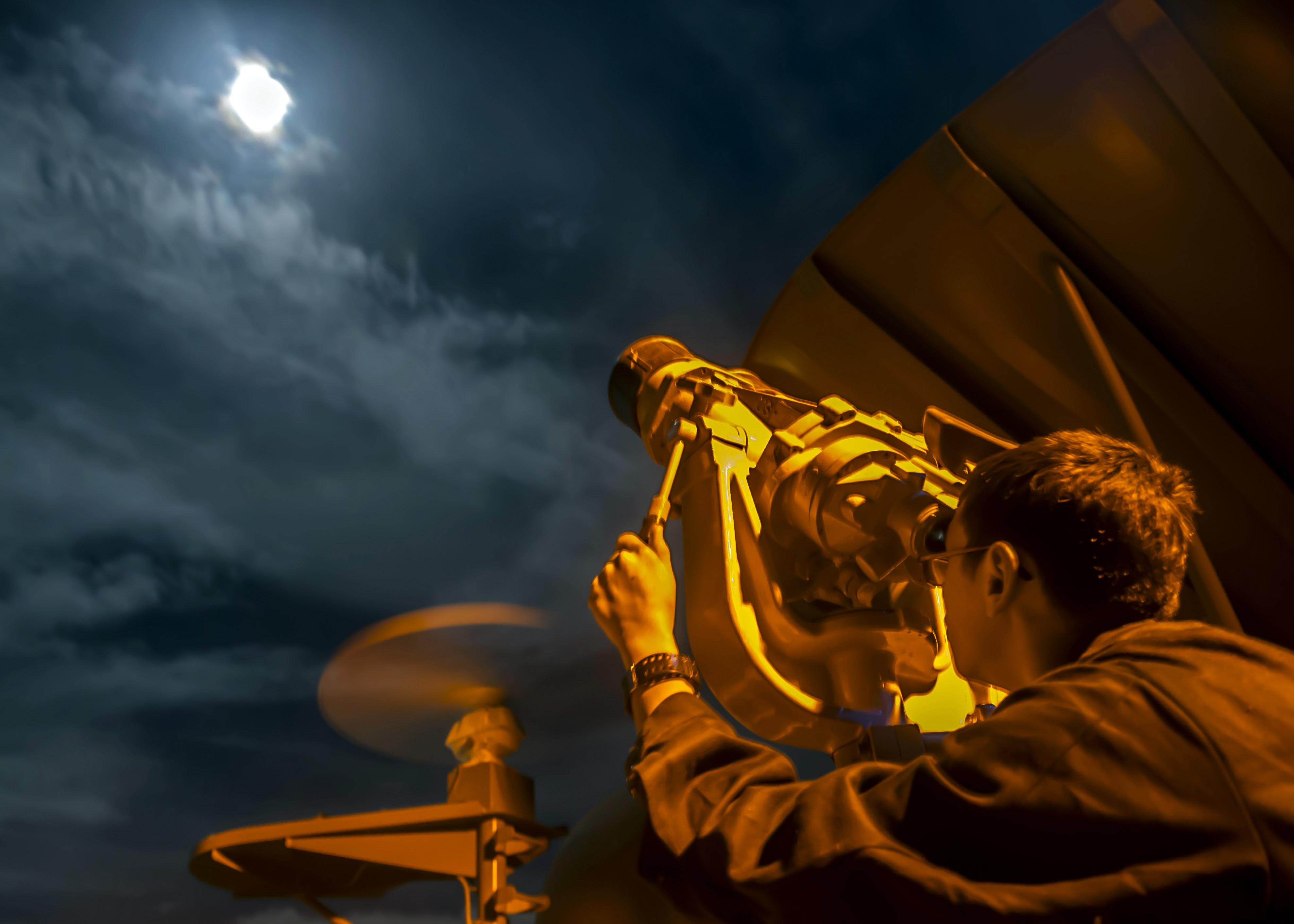 Telescope at military base photo