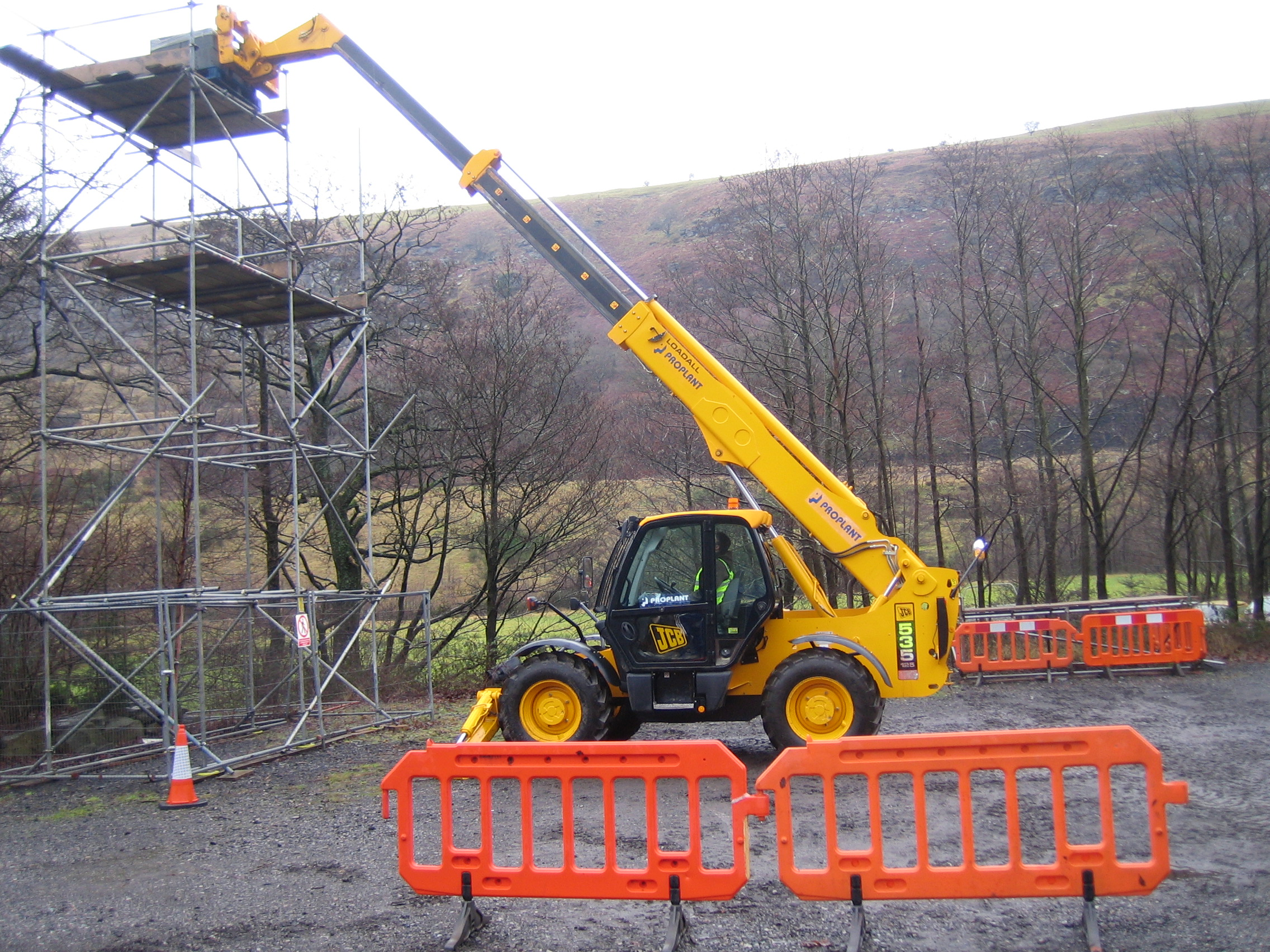 Telescopic Handler training in Wales - Optrain Ltd