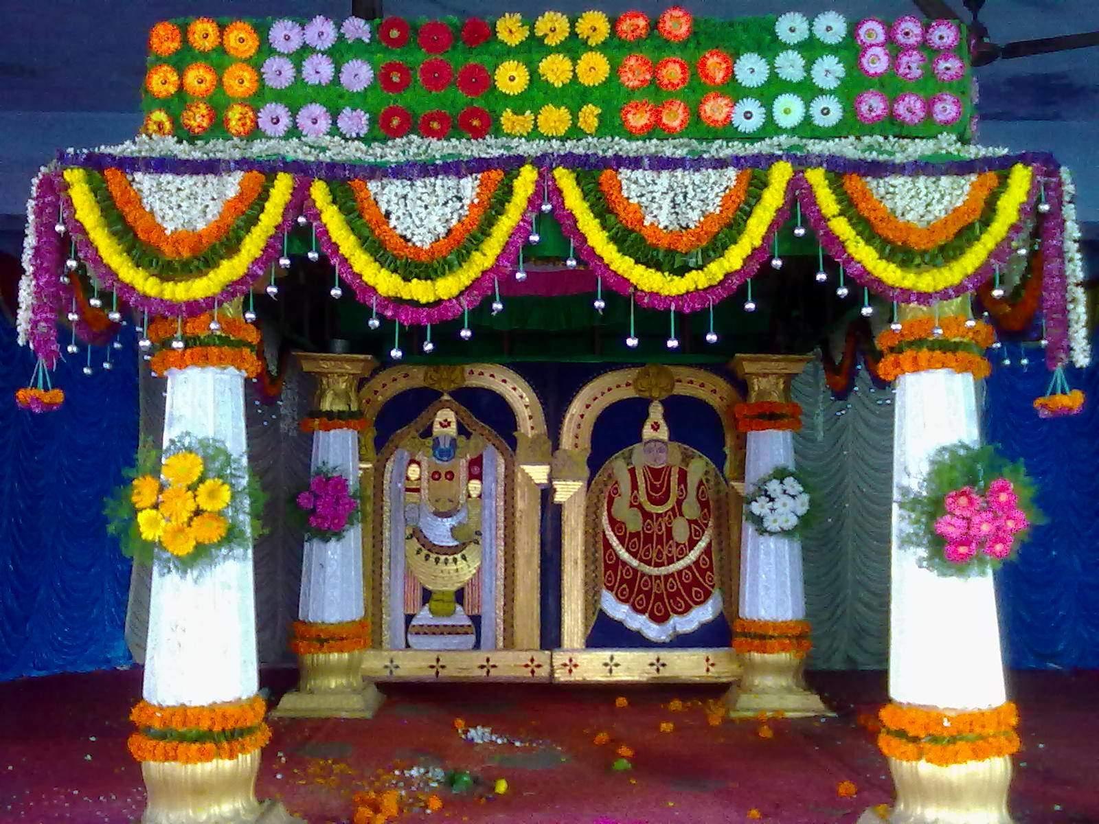 Free Photo: Temple Flower Decoration