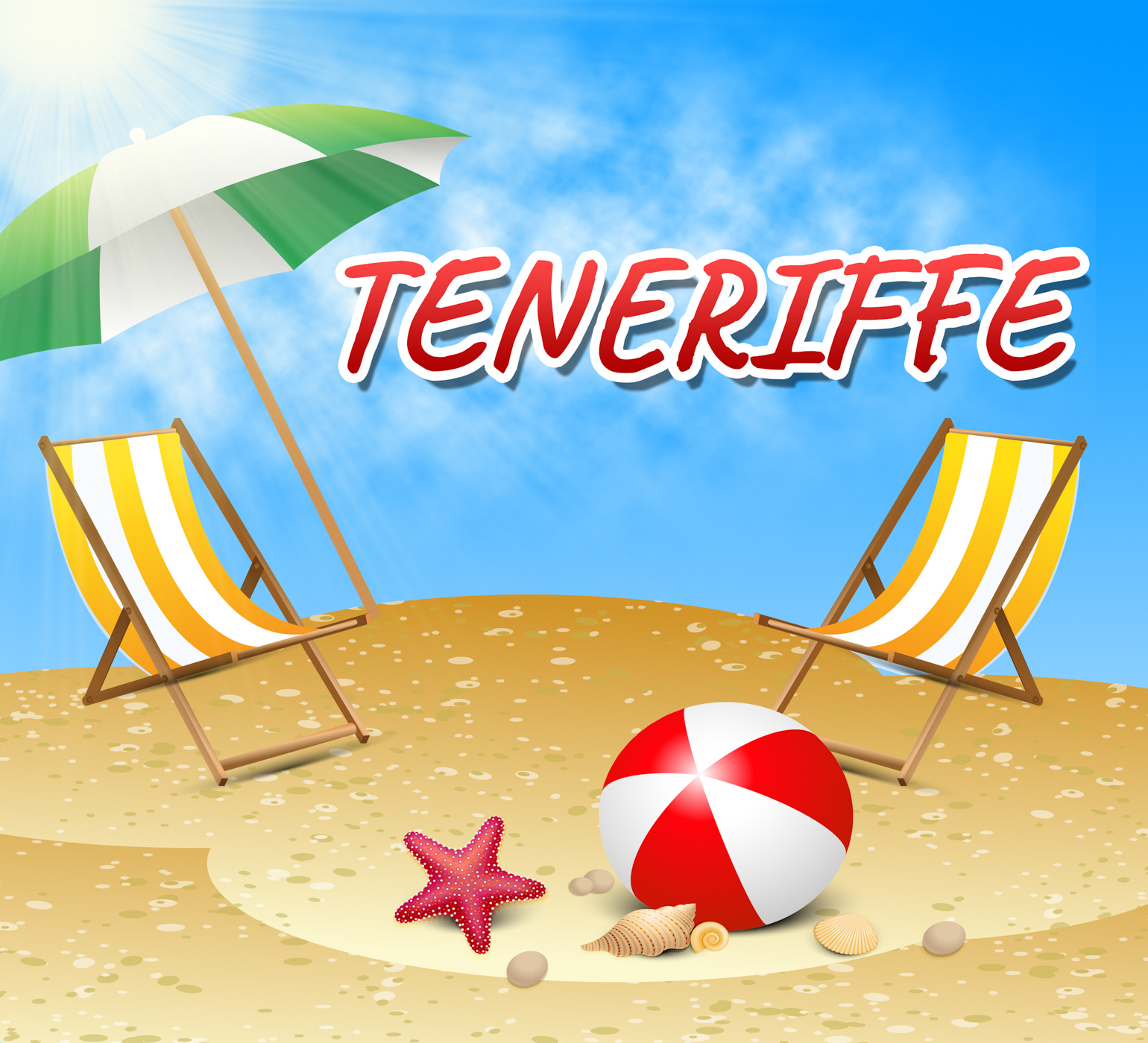 Teneriffe Vacations Represents Summer Time And Beaches, Break, Spanish, Vacationing, Vacational, HQ Photo