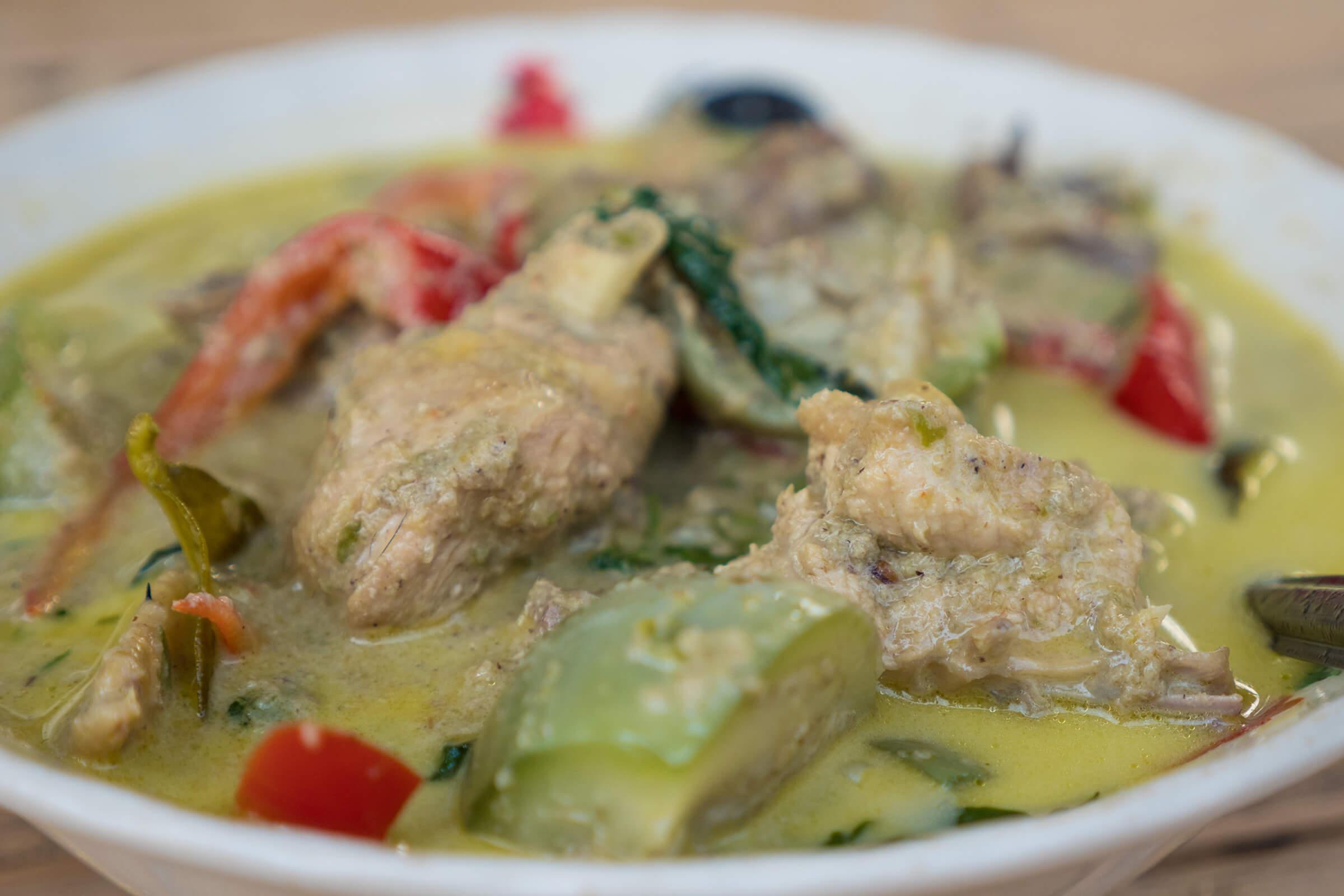 Thai green curry photo