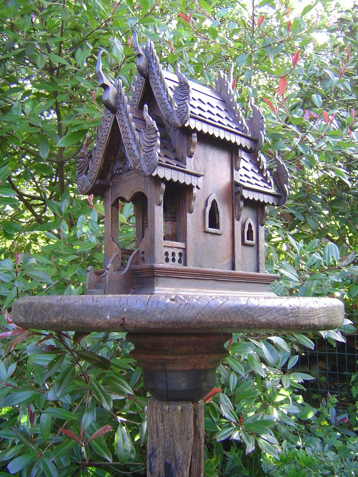 Spirit house in the garden | Spirit Houses | Pinterest | Gardens ...