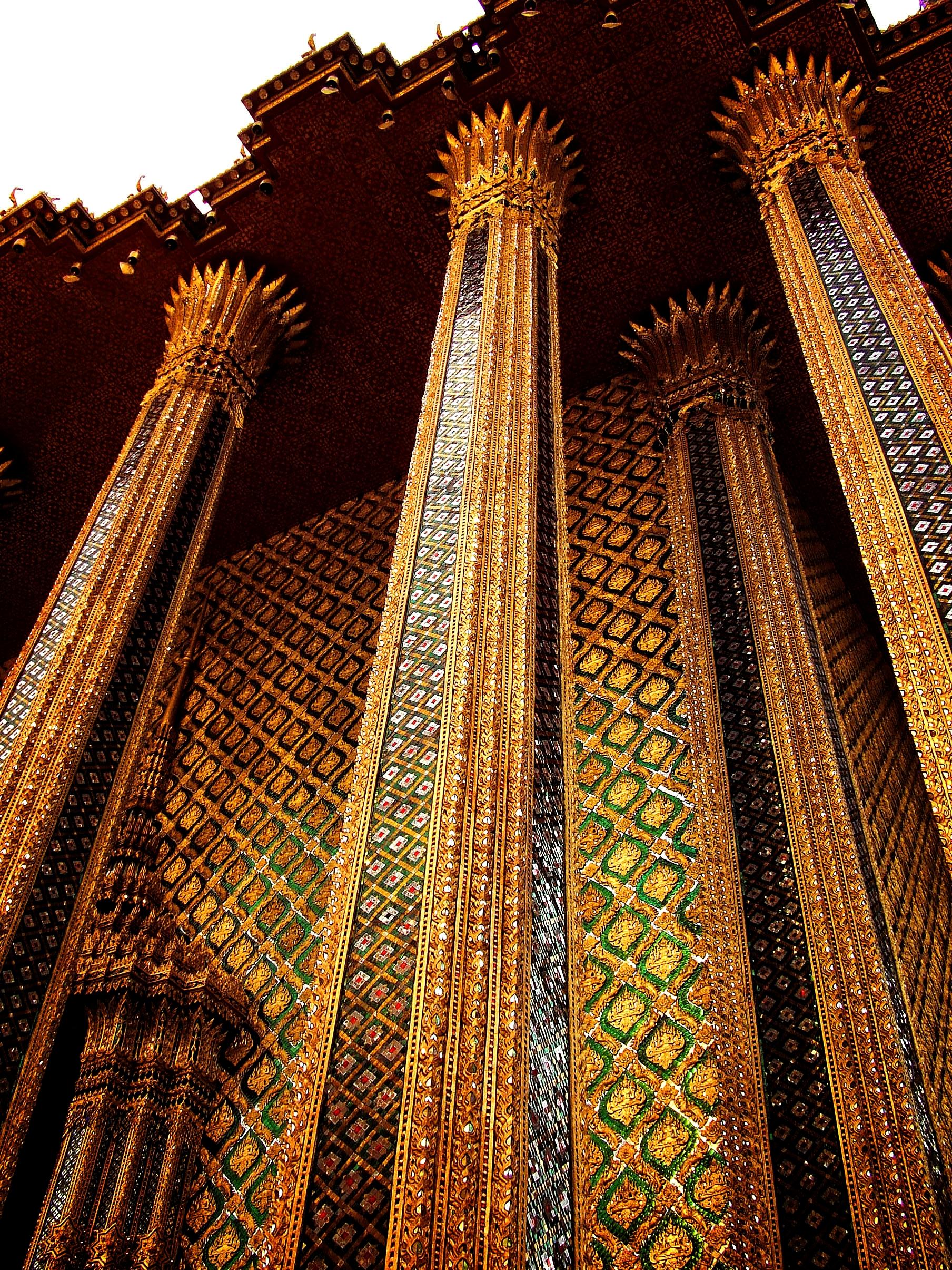 Thailand - columns of phra mondop in bangkok photo