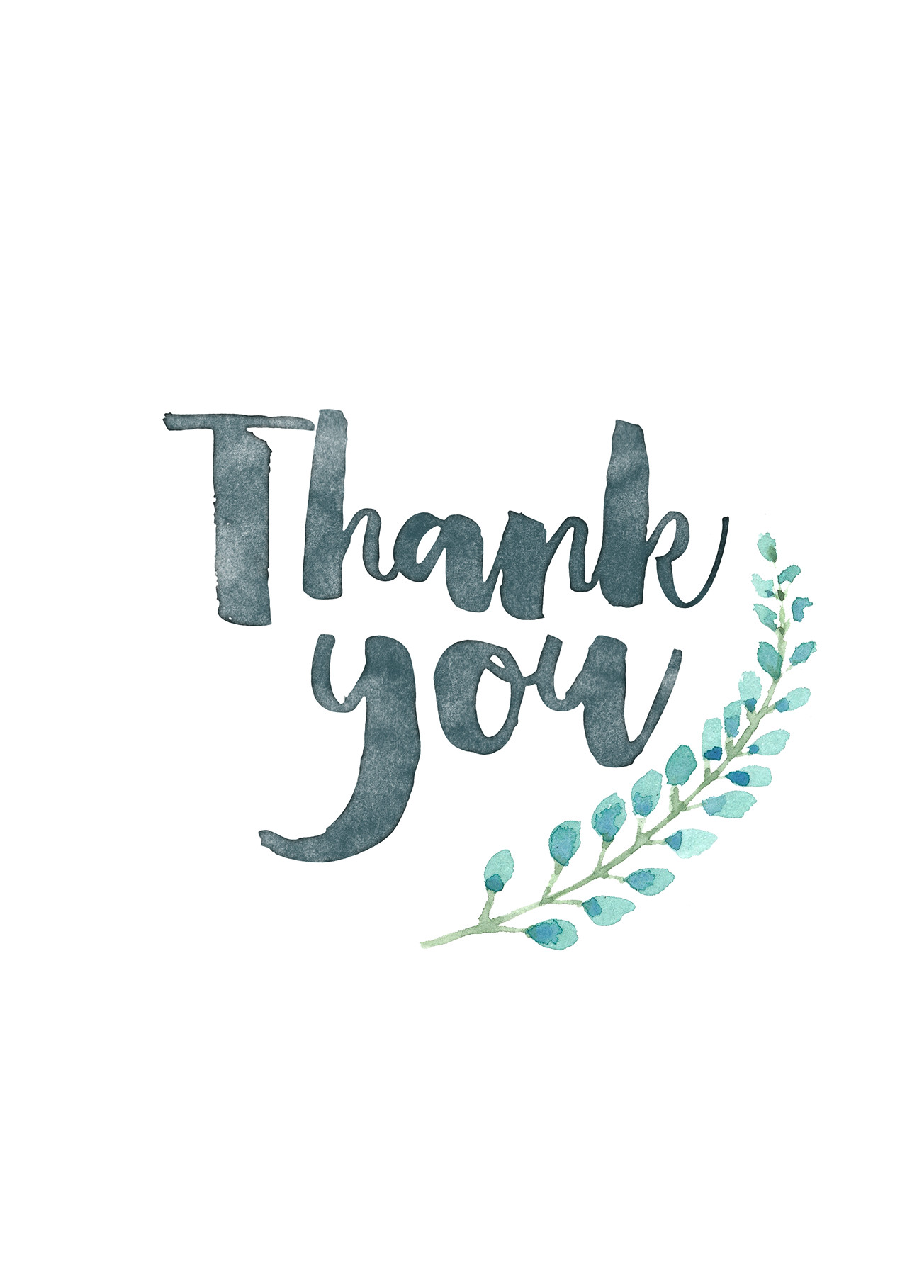 Thank you card – blue flower | Everyday Gratitude