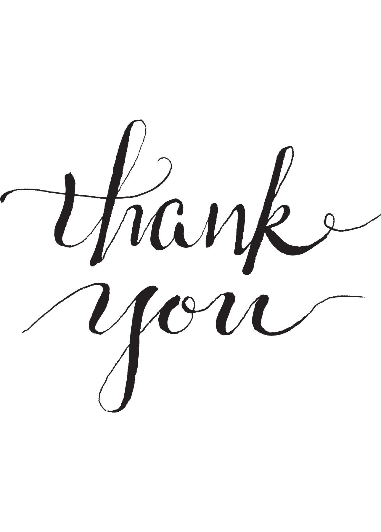 Thank you card – black script | Everyday Gratitude