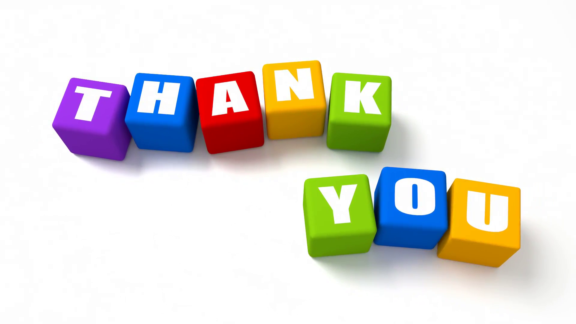 Thank You Colored Cubes Text Animation Motion Background - Videoblocks