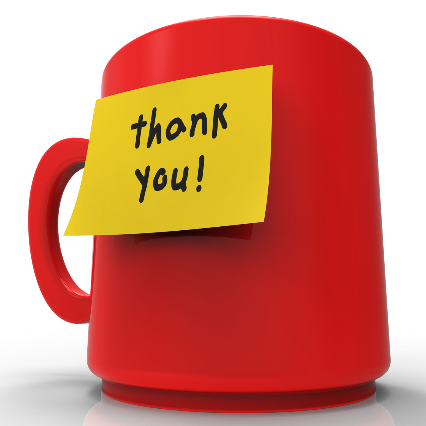 Thank you represents many thanks 3d rendering photo