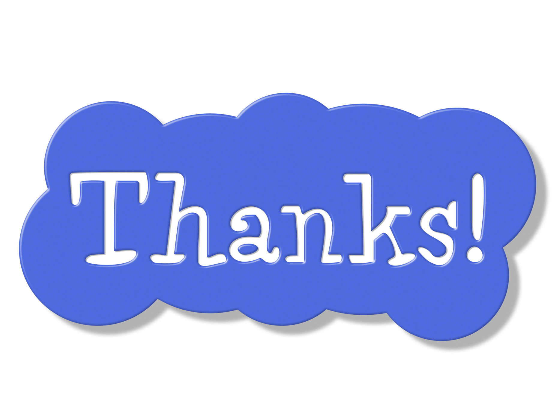 Thanks sign represents advertisement signboard and placard photo