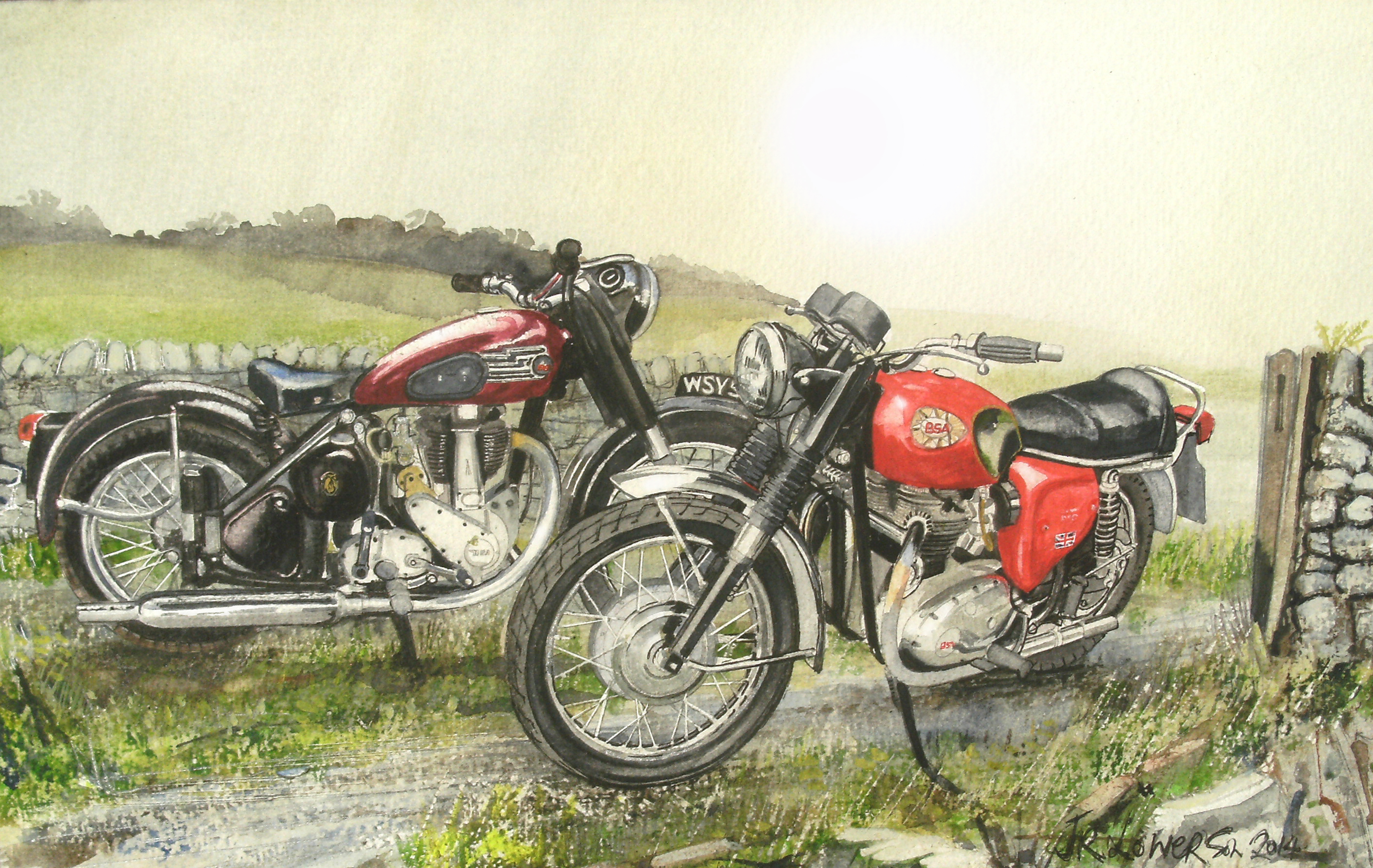 That depends on where ever you're at, Automotive arts, Bike, Bsa, Countryside, HQ Photo