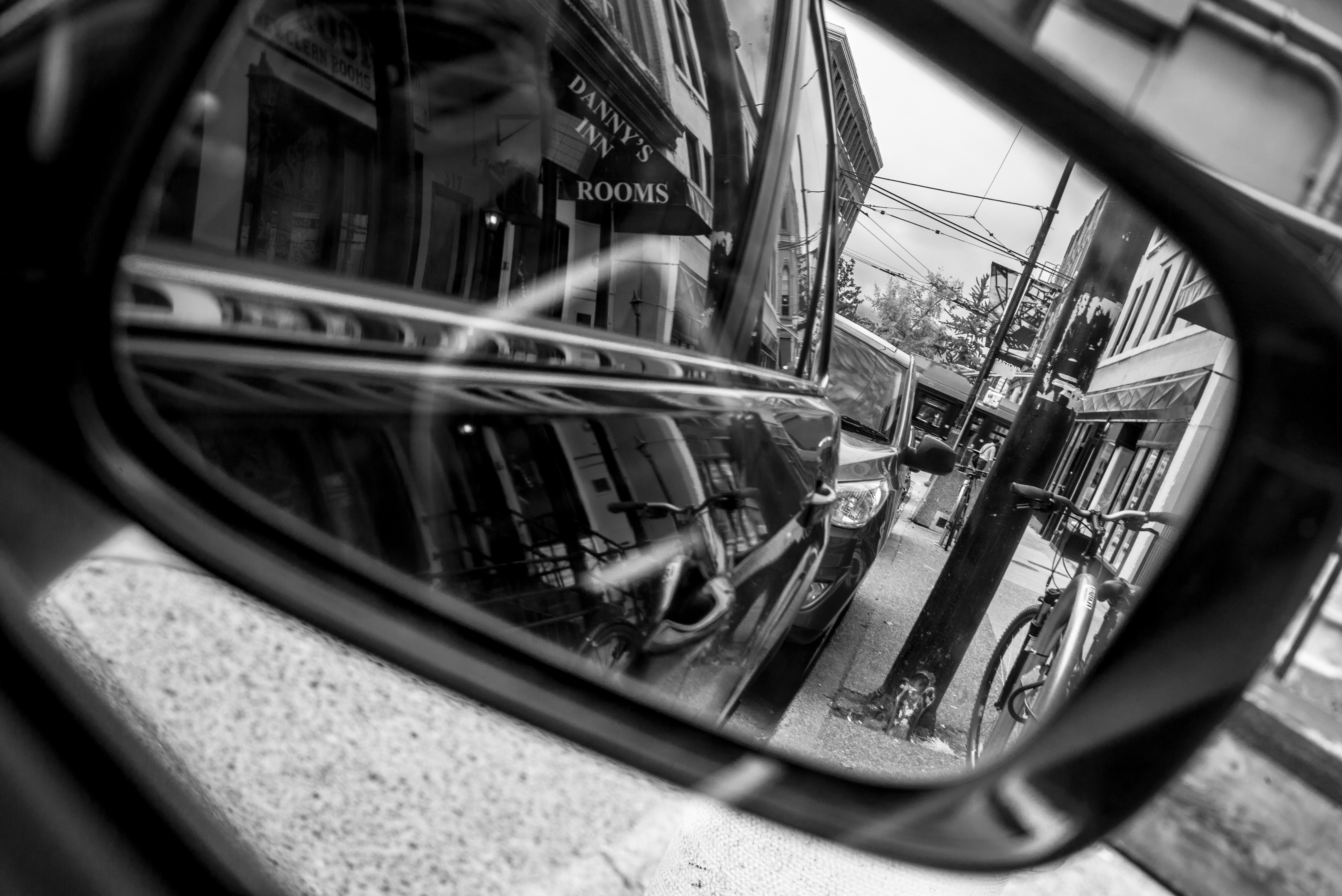 That leica m-d is a mighty fine camera! enjoyed taking this mirror shot! IMG_4261, Road, Vancouver, Reflection, Mirror, HQ Photo