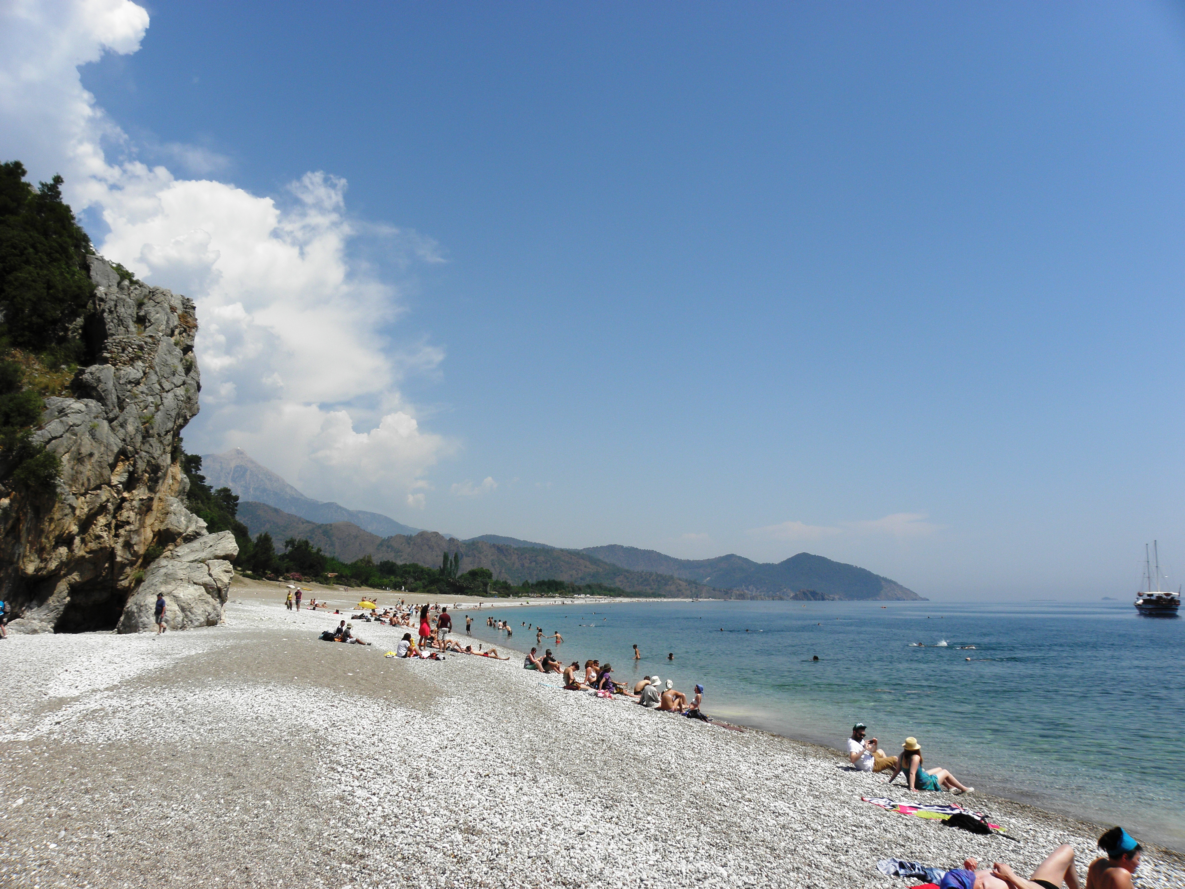 The bay of ancient olympos photo