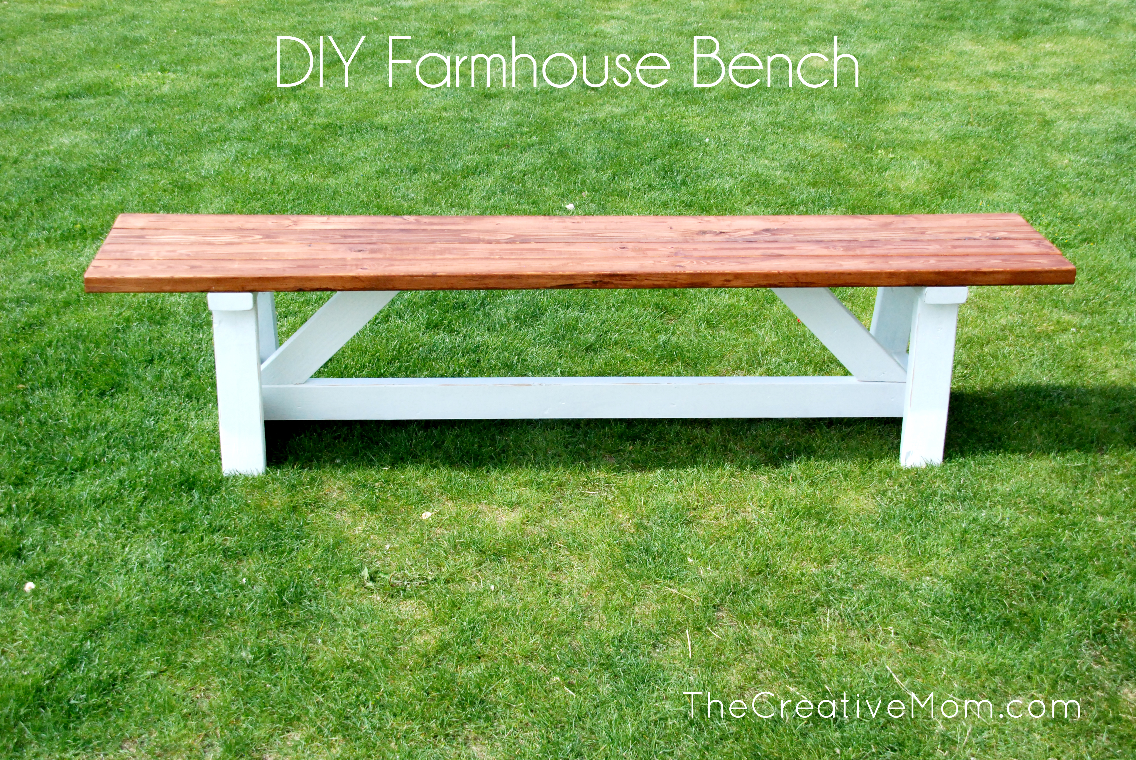 How to build a bench - The Creative Mom