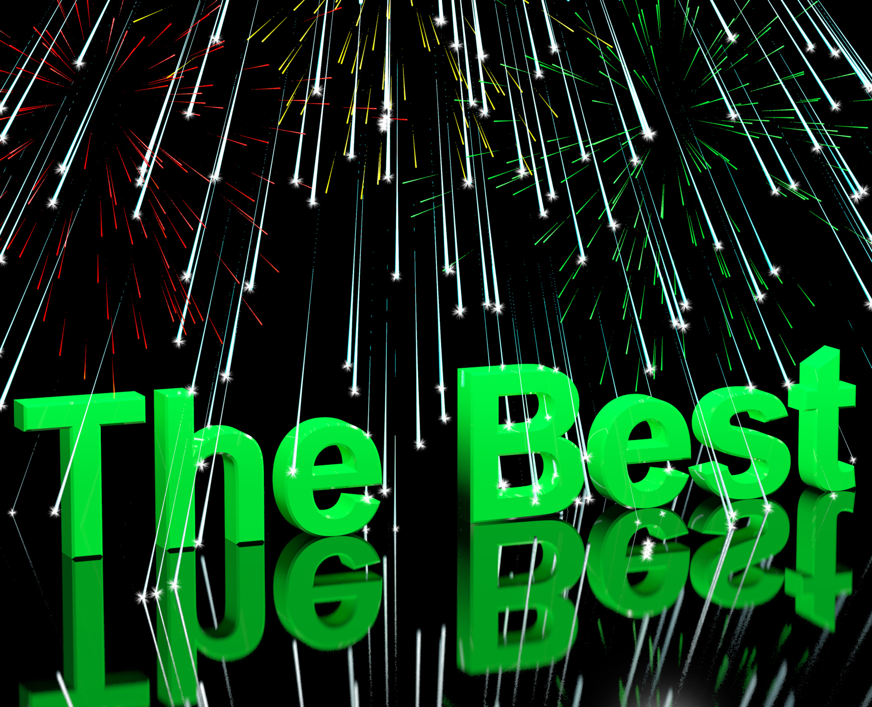 The best words with fireworks showing top quality and acheivement photo