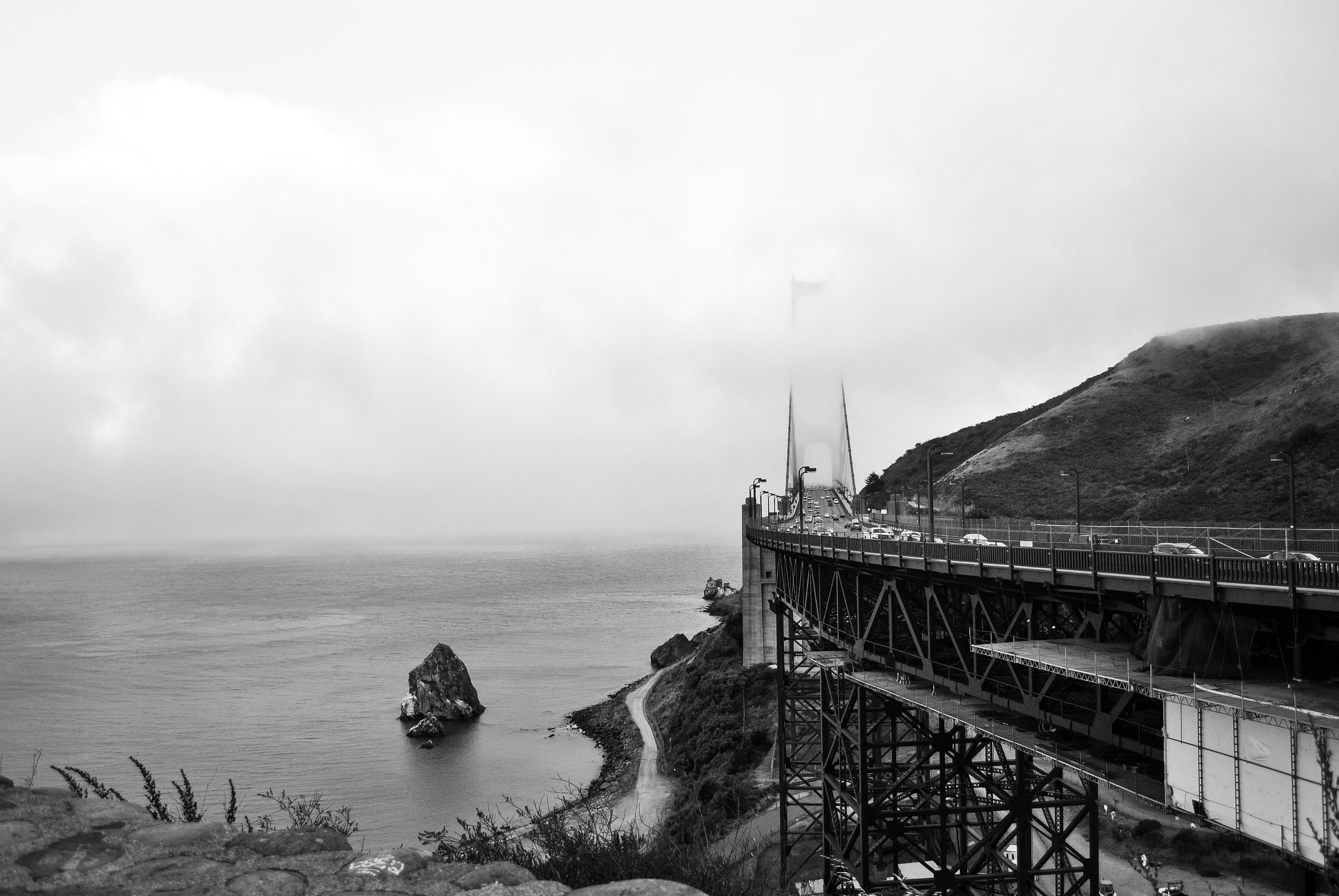 The Bridge, Bridge, Construction, Flow, Landscape, HQ Photo