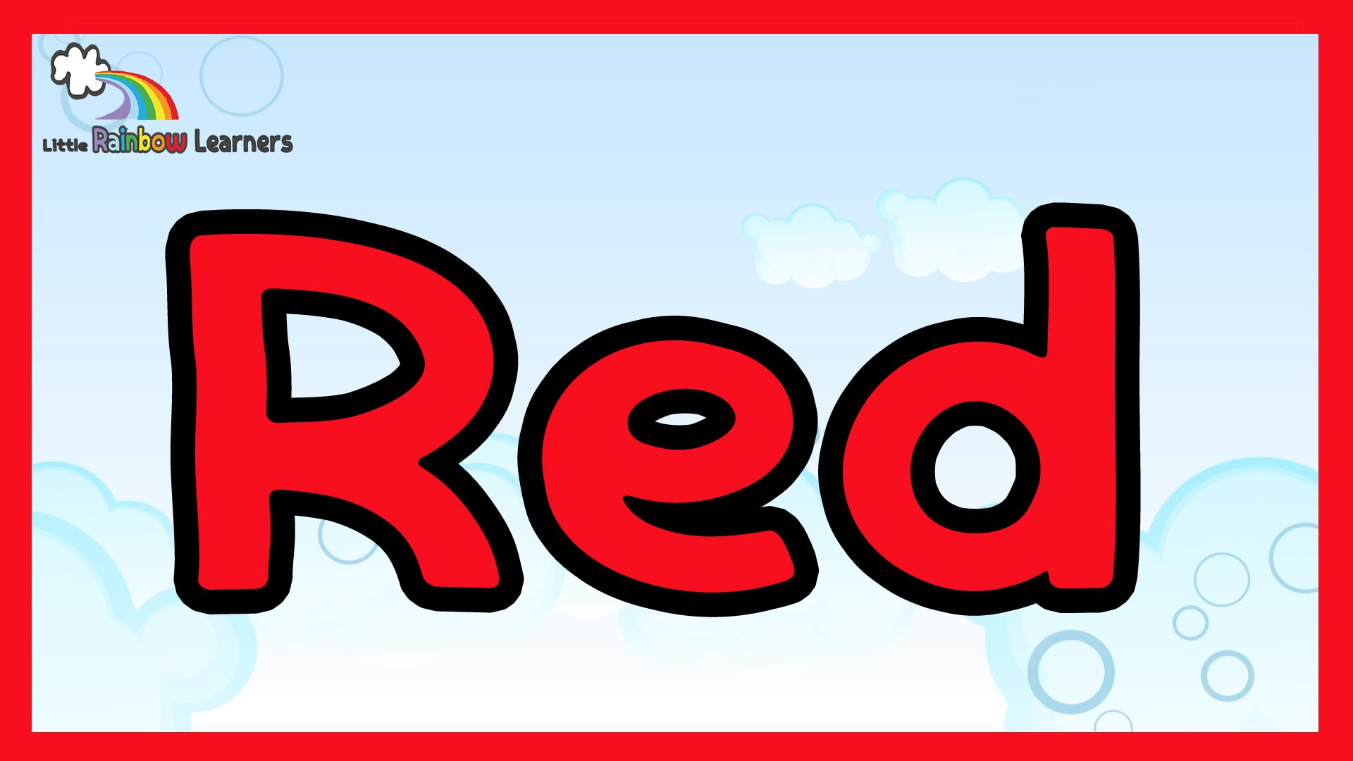 Learn the color red - The color red for kids - YouTube