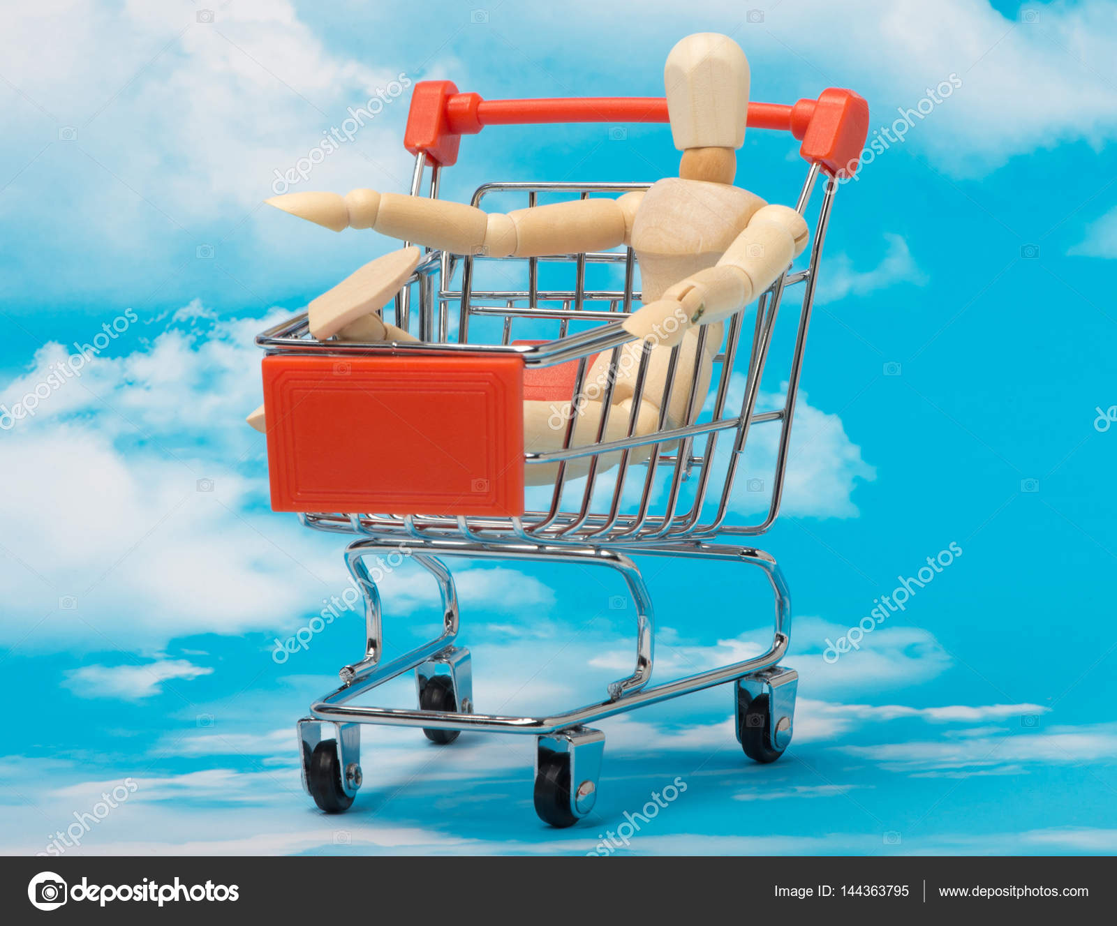 The consumer society in the concept against the sky — Stock Photo ...