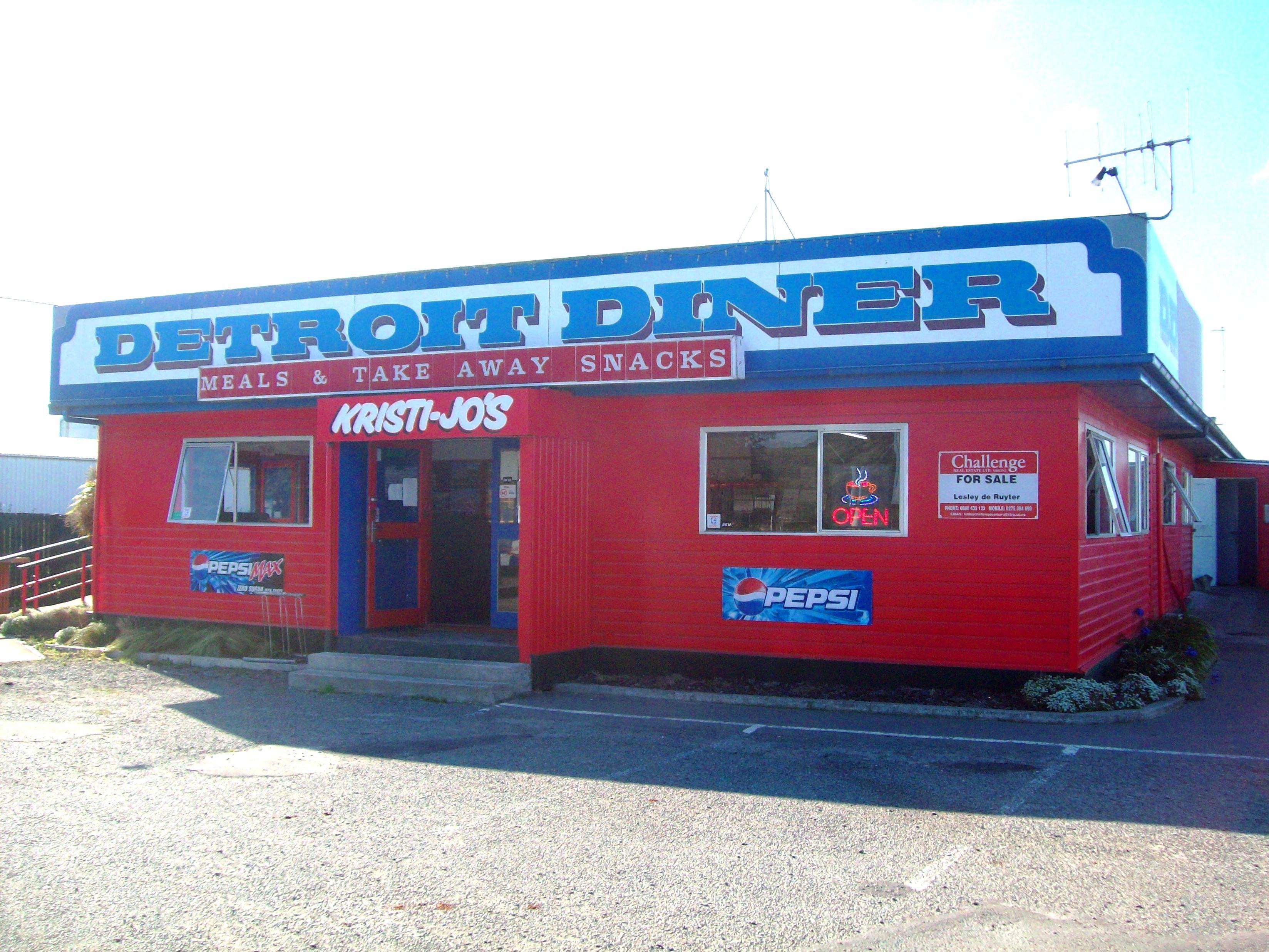 THE DETROIT DINER, Blue, Building, Cargo, Detroit, HQ Photo