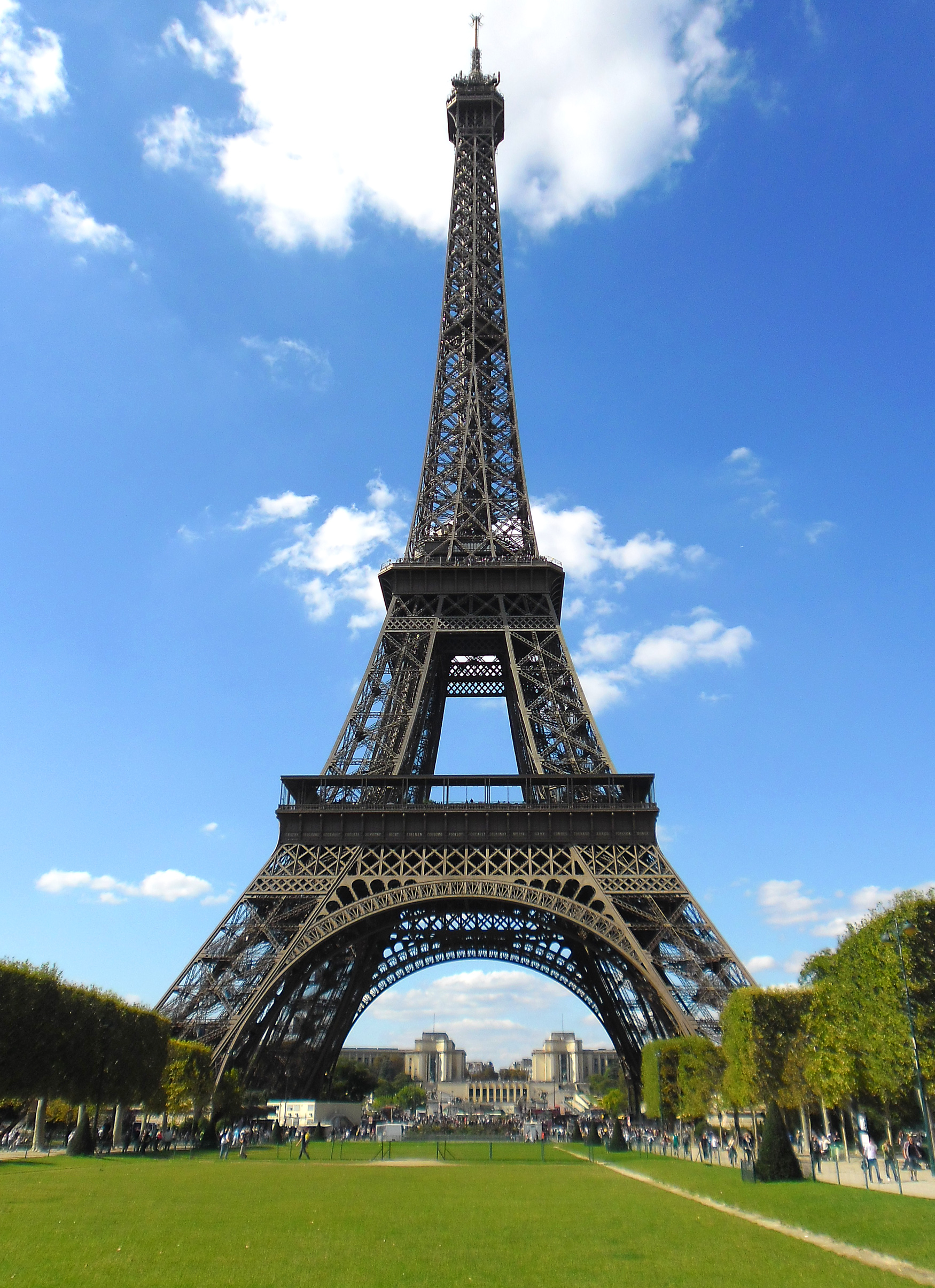 The eiffel tower in paris - france photo
