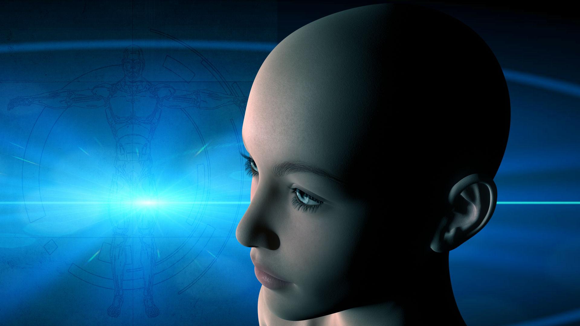 The Future, 3drender, Artificial, Digital, Face, HQ Photo