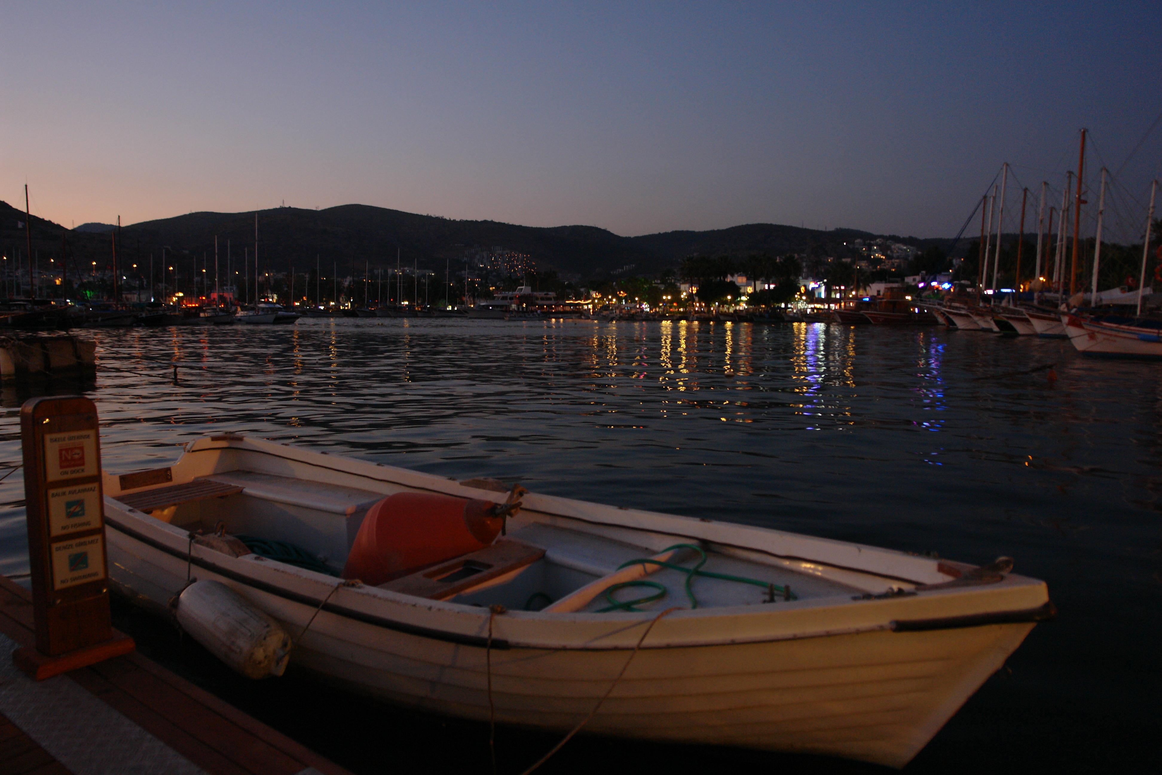 The harbor at night photo