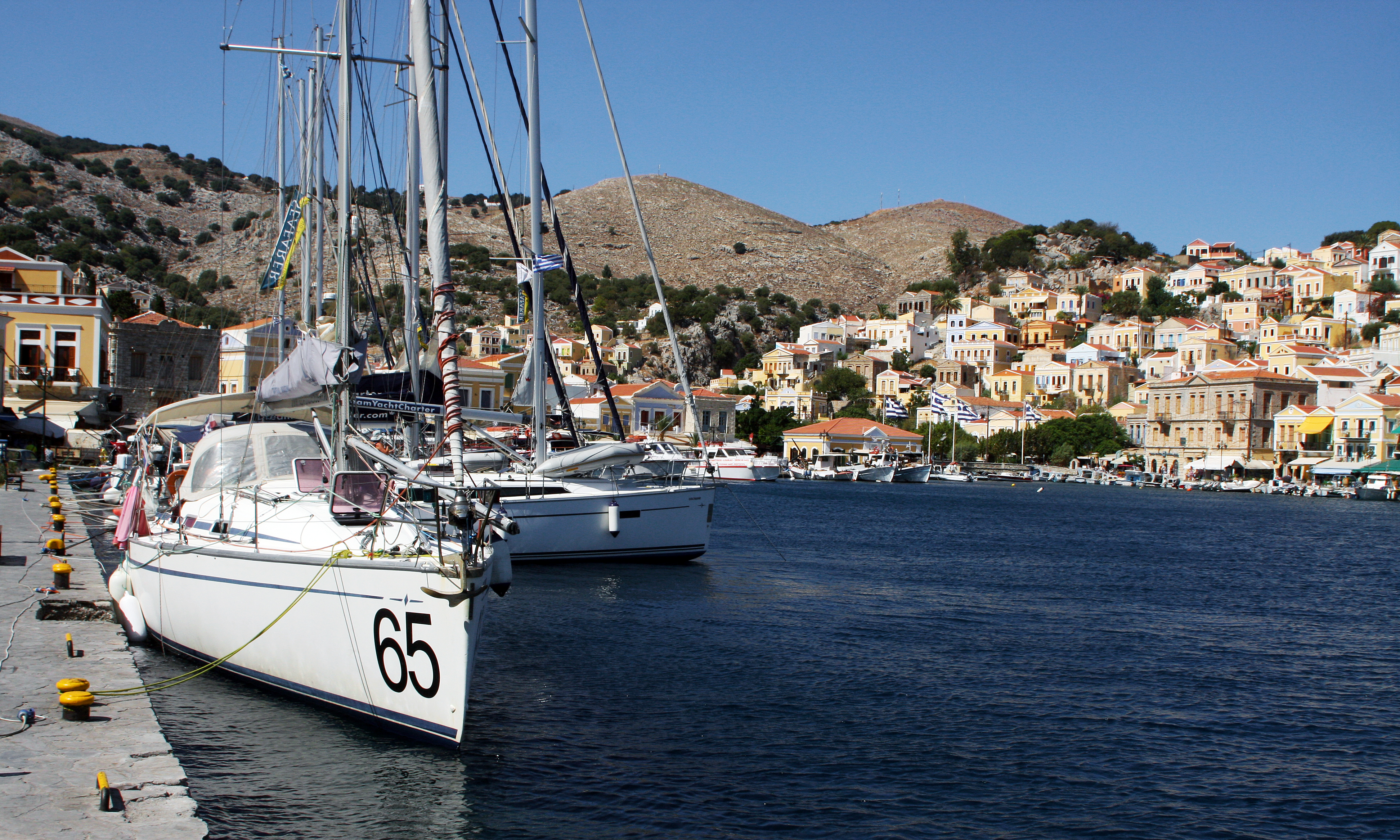 The harbour at symi. photo