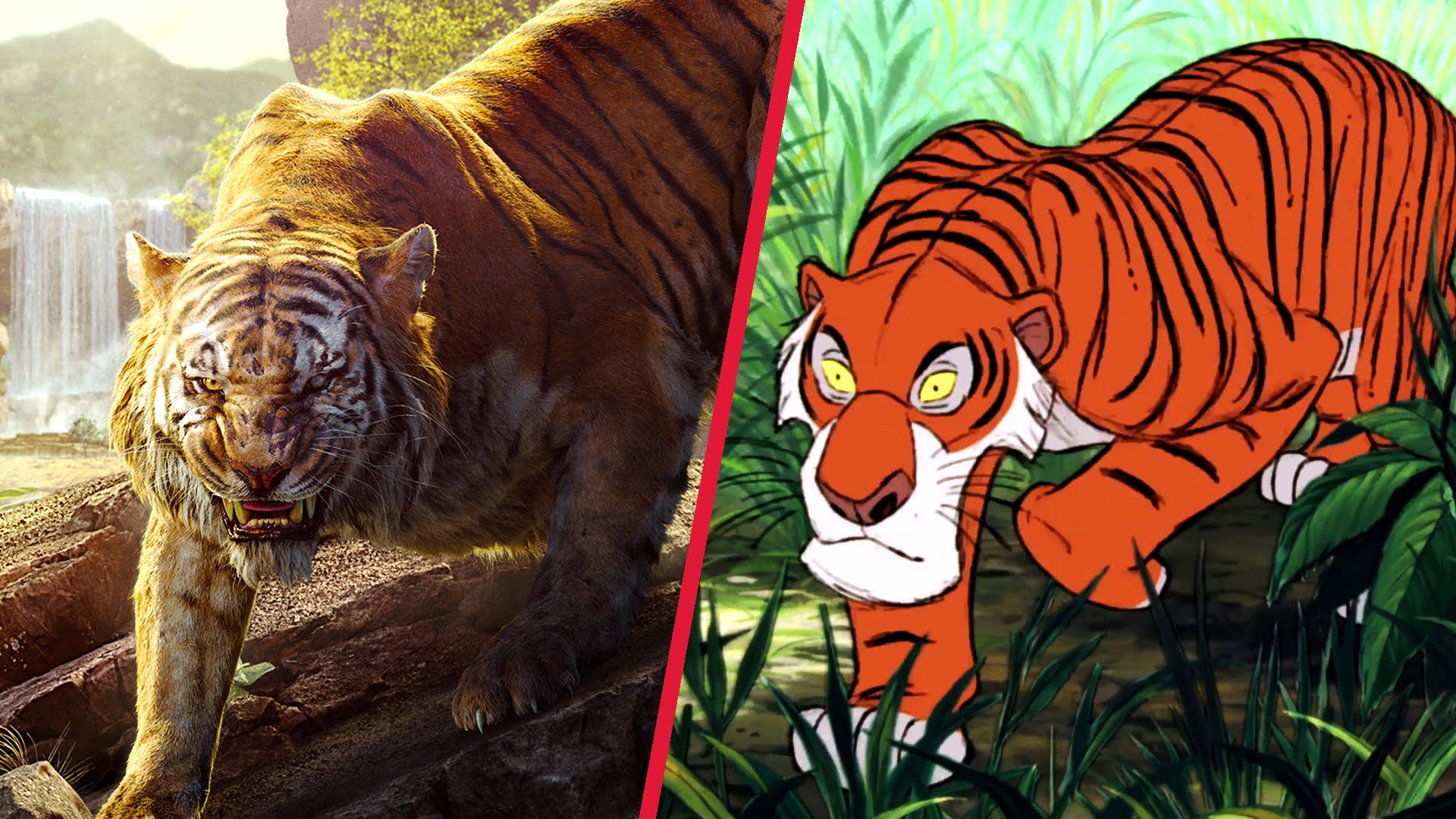 The Jungle Book Trailer Gets Animated | Disney Side by Side by Oh My ...