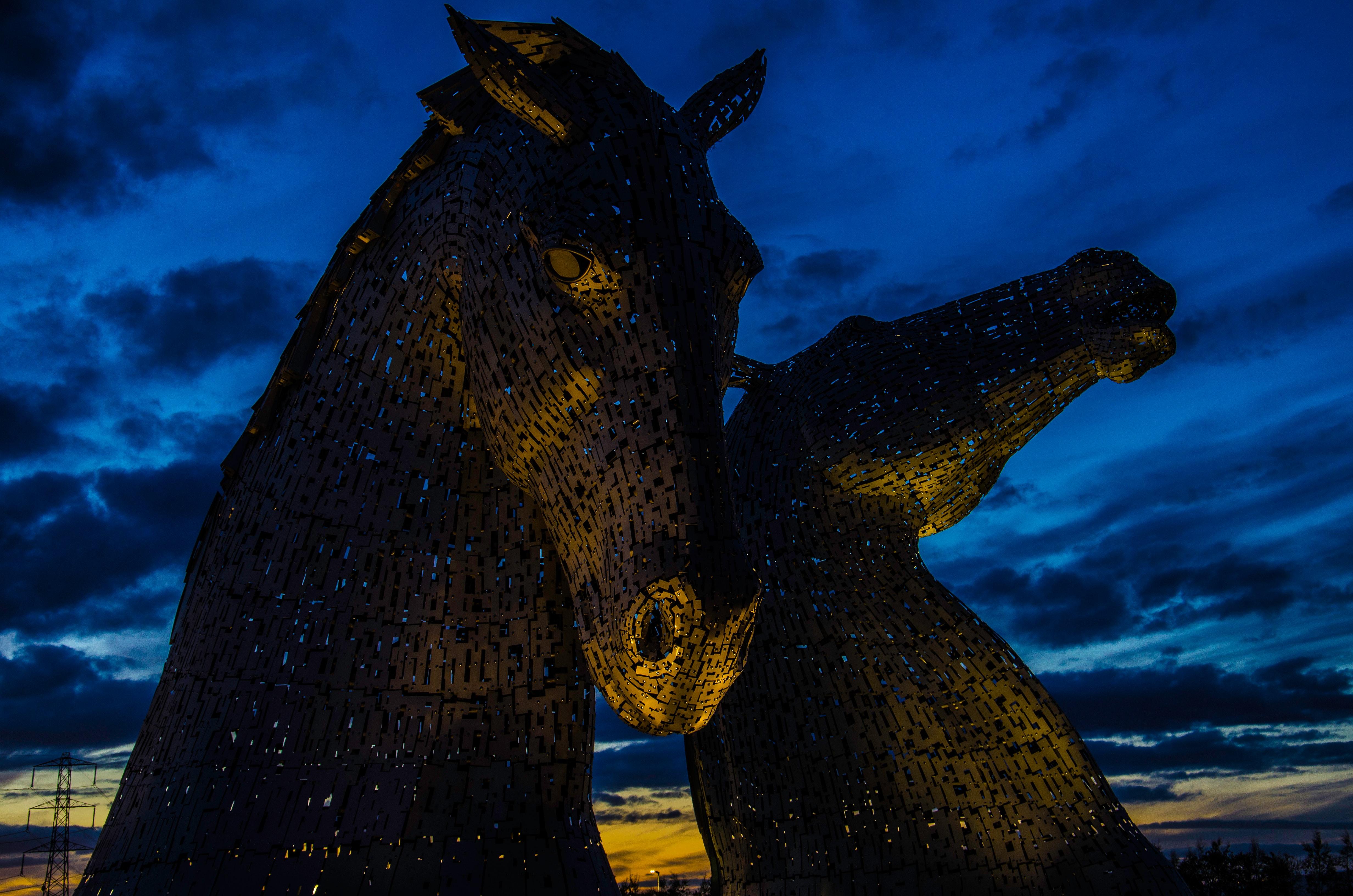 The kelpies, scotland photo