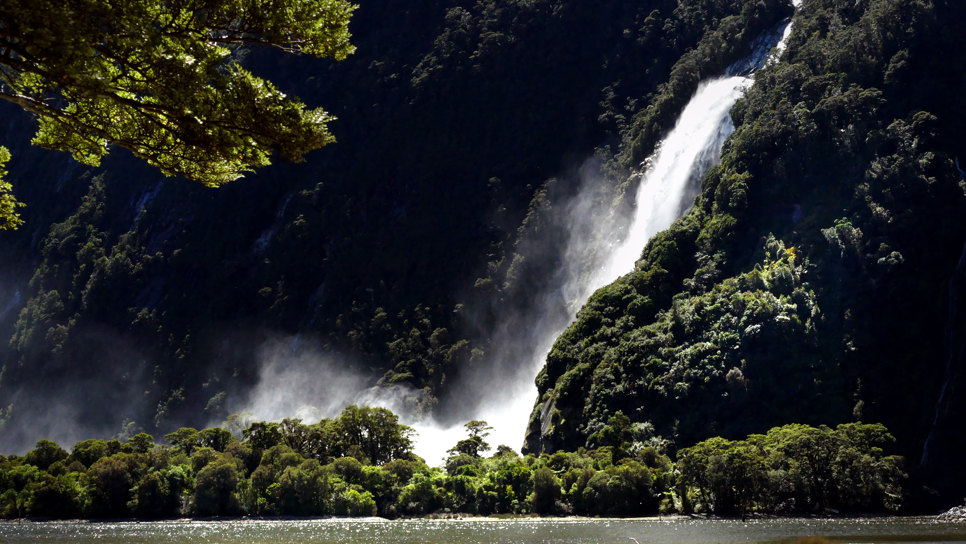 The lady bowen falls. milford sound photo