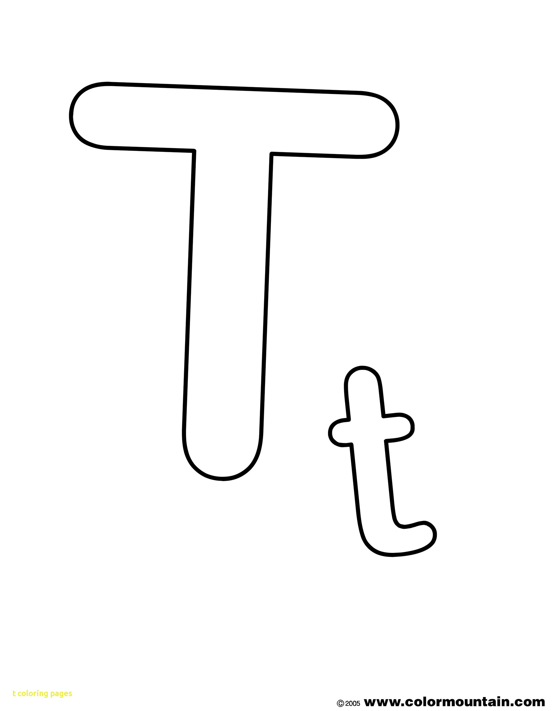 Wonderful Coloring Pages Of The Letter T Unusu #18347 - Unknown ...