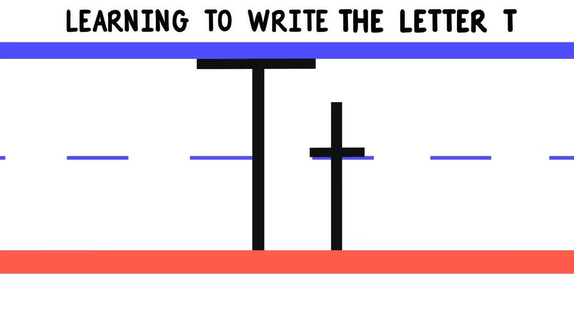 Write the Letter T - ABC Writing for Kids - Alphabet Handwriting by ...