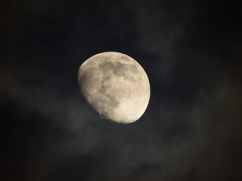 The moon at night photo