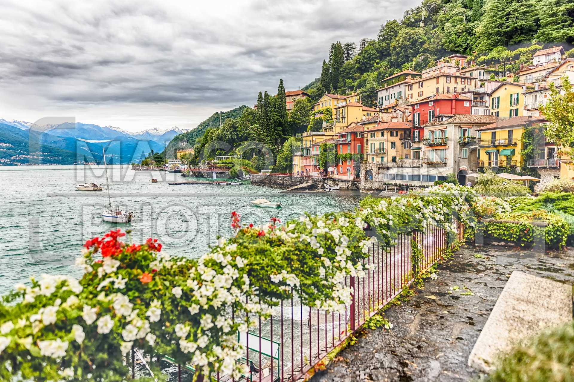 The picturesque village of Varenna over the Lake Como, Italy - Marco ...