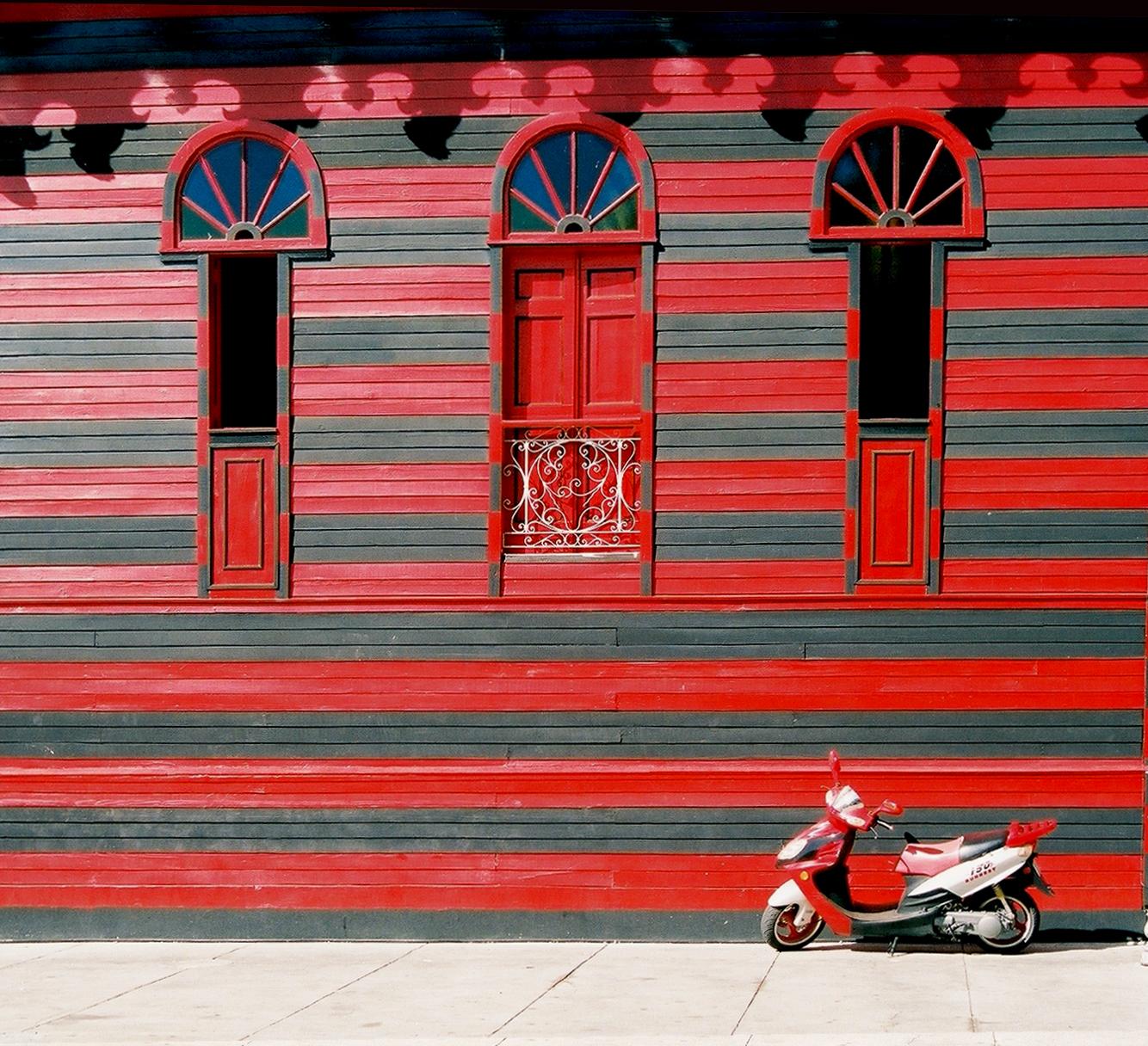 The red house, Bike, Carribean, Firehouse, House, HQ Photo