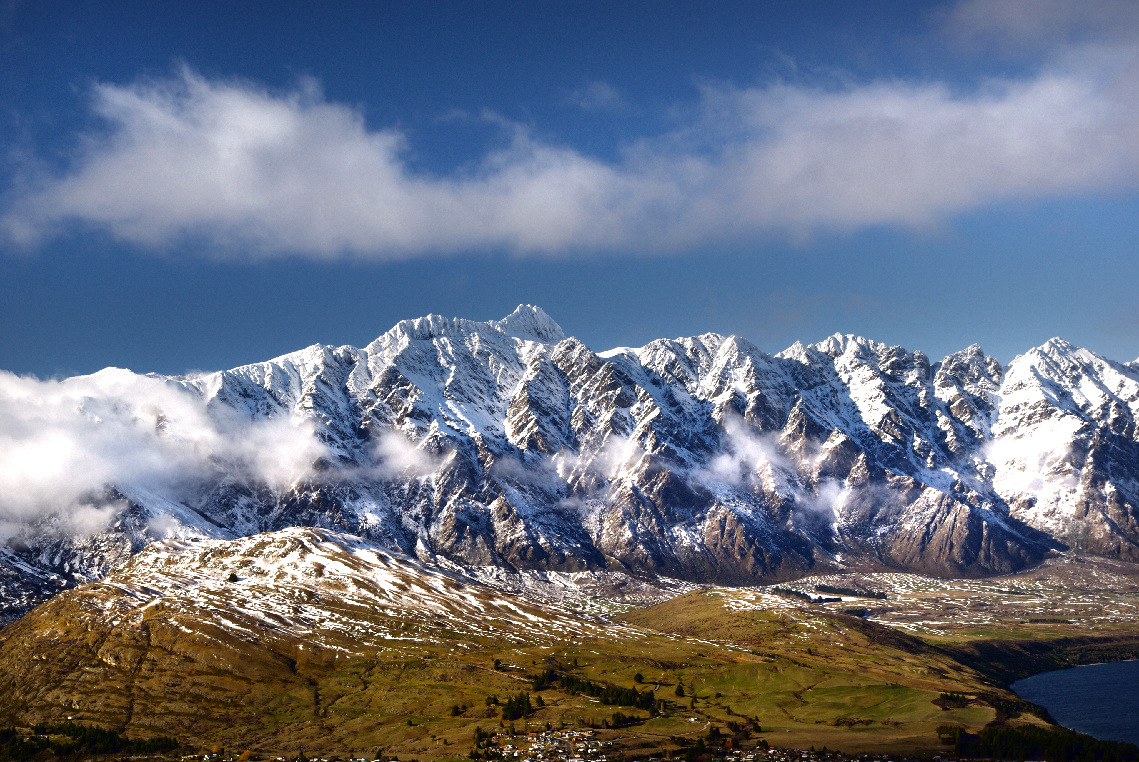 The Remarkables. Queenstown NZ, Cloud, Free photos, Landscape, Mountain, HQ Photo
