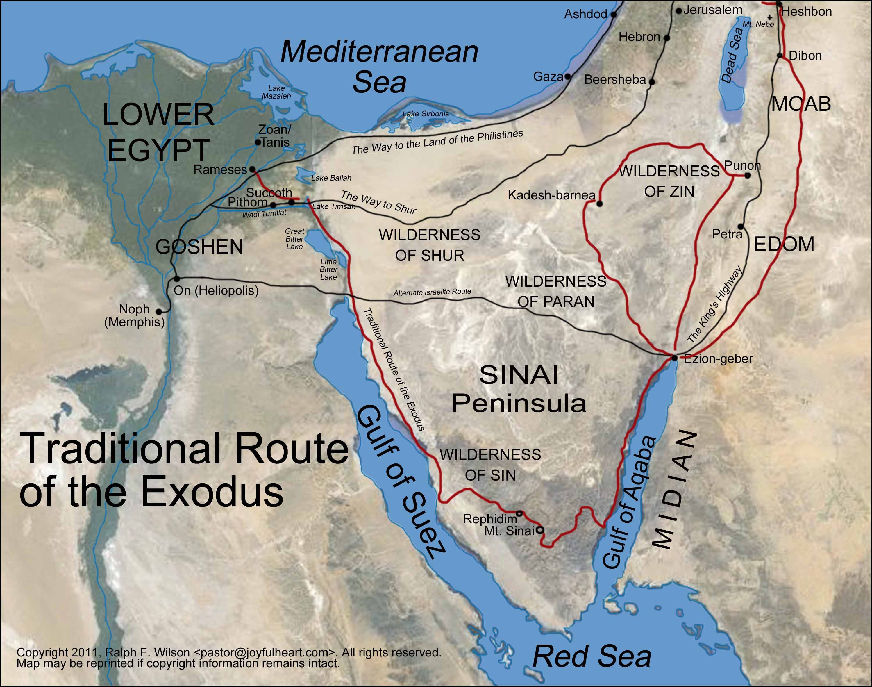Appendix 2. The Route of the Exodus. Moses Bible Study
