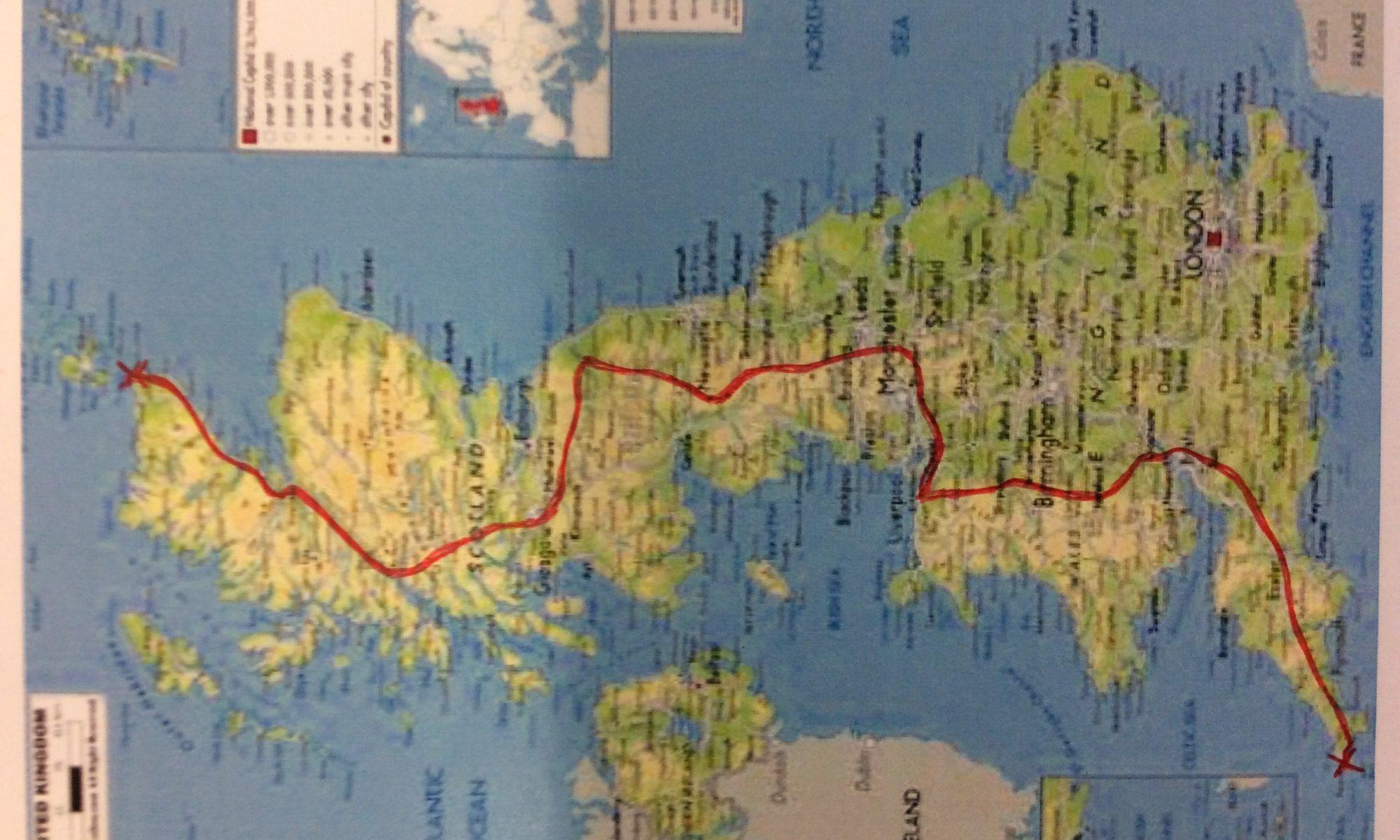 The Route – jlemarinel-lejog.com
