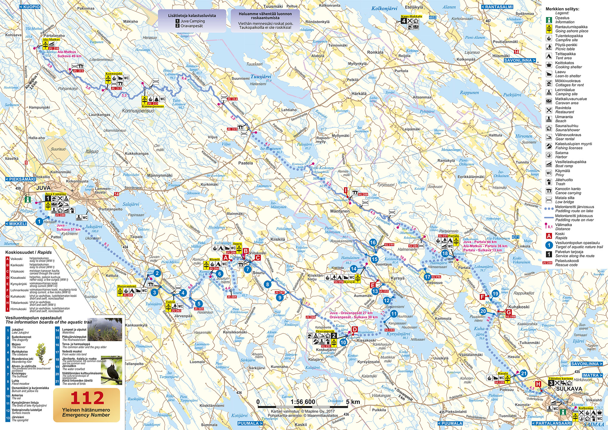 The route description - Oravareitti
