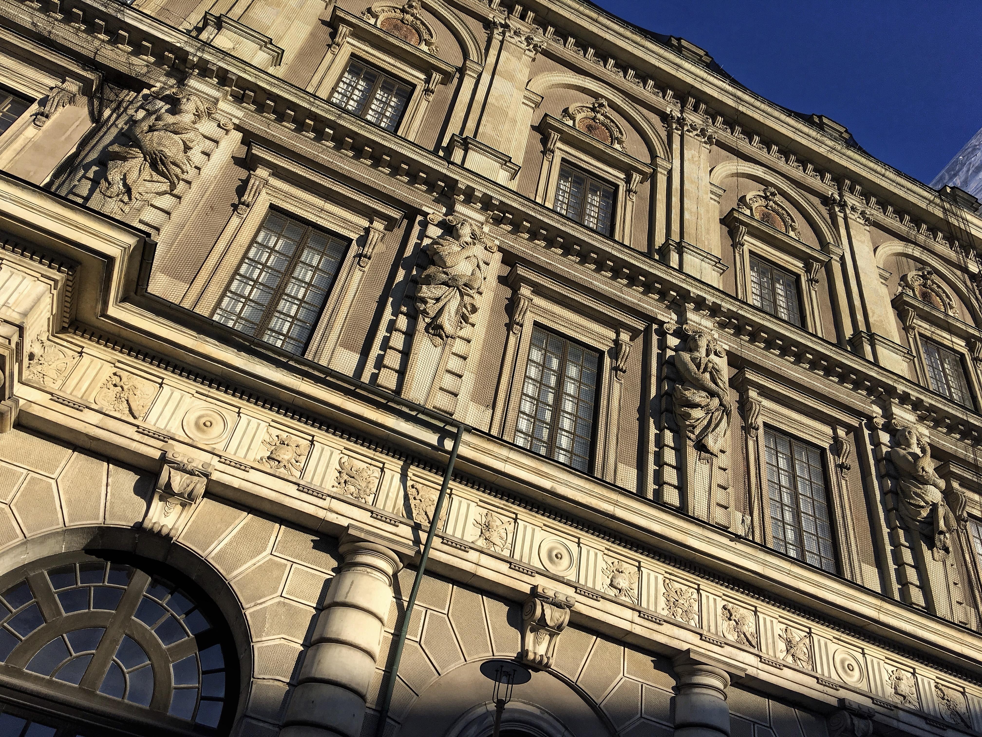 The Royal Palace, Architecture, Scandinavia, Window, Travel, HQ Photo