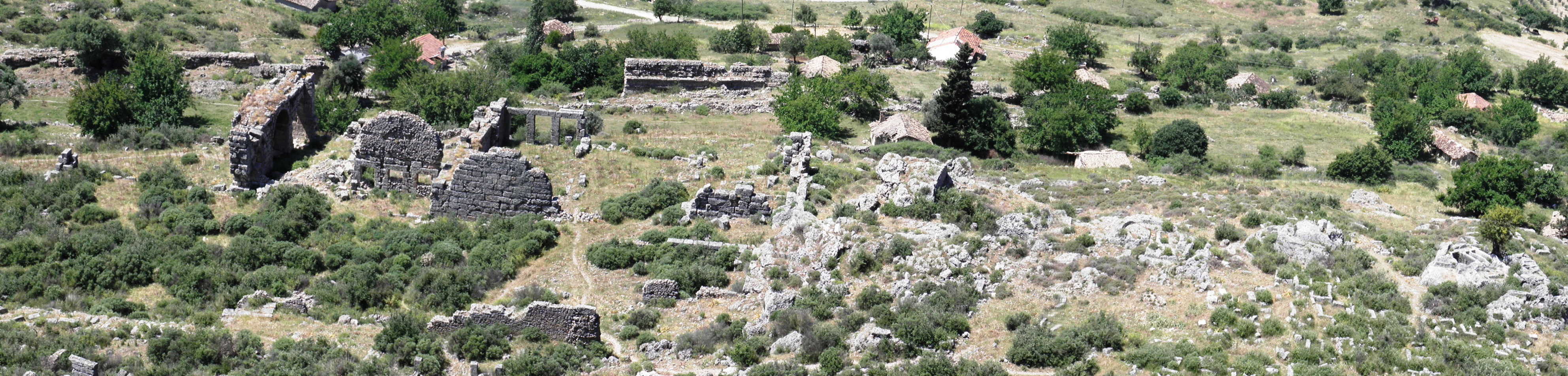 The ruins of the ancient sillyon photo