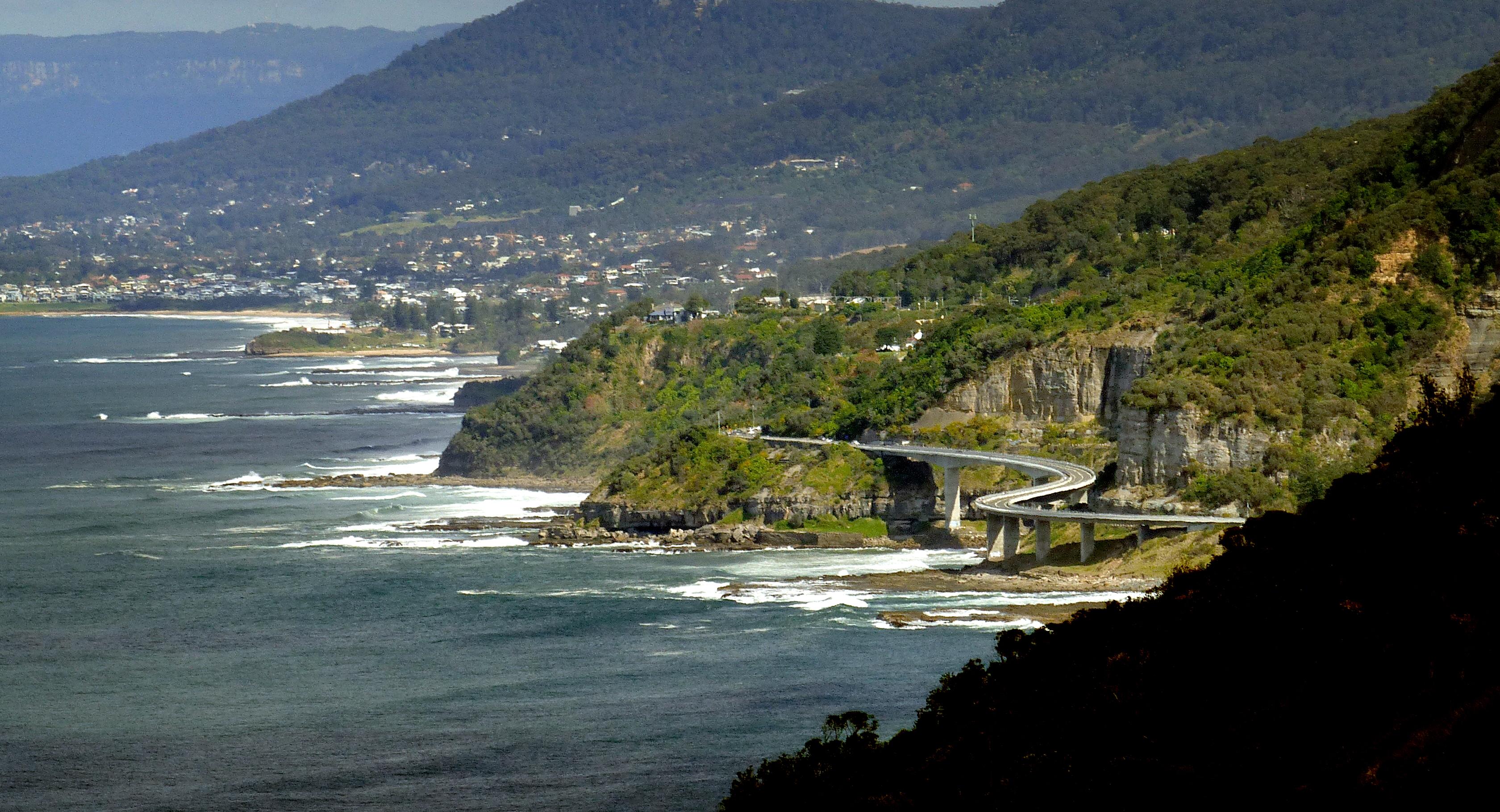 The sea cliff bridge. clifton. nsw photo