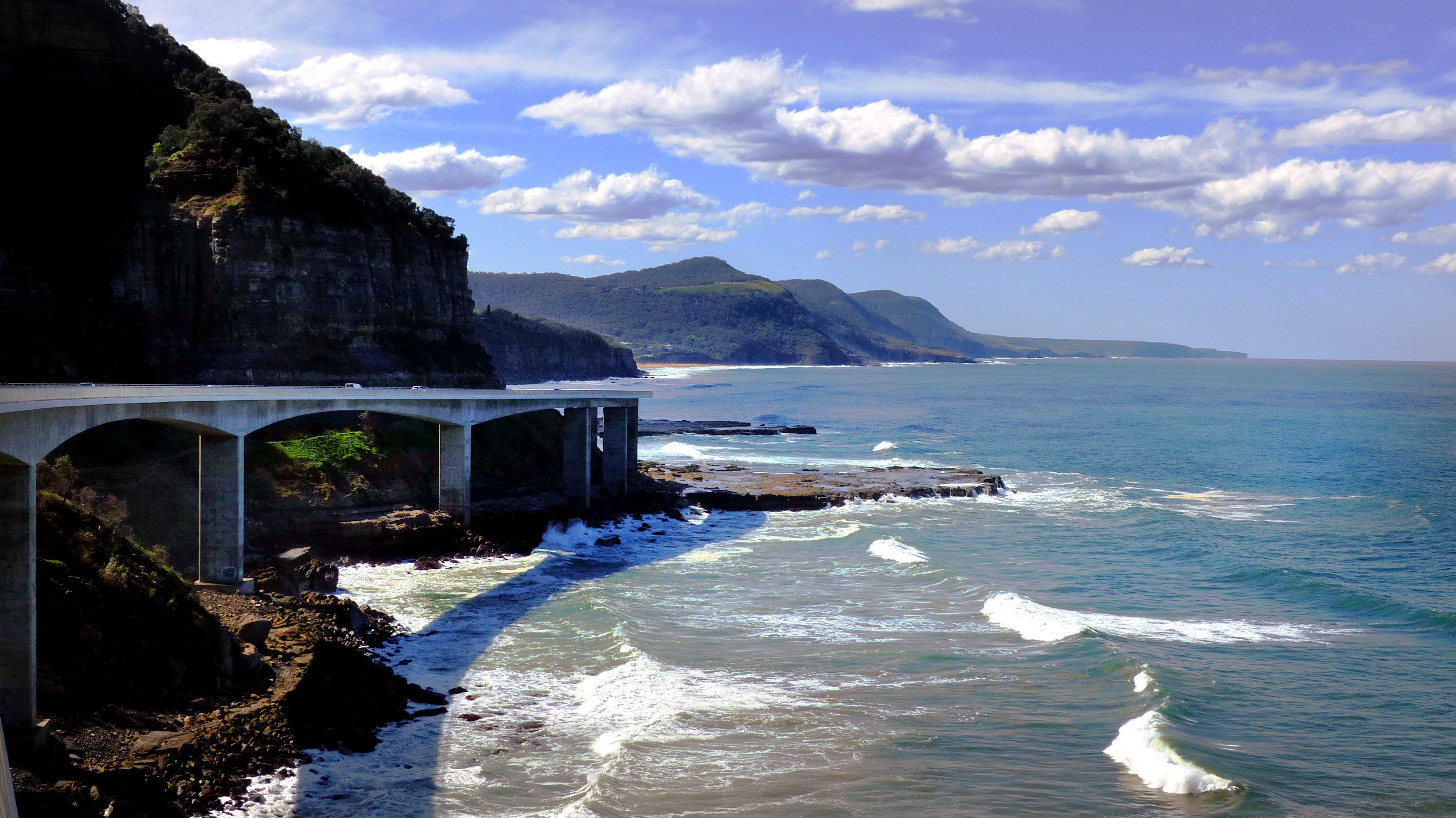 The sea cliff bridge. nsw aust. photo