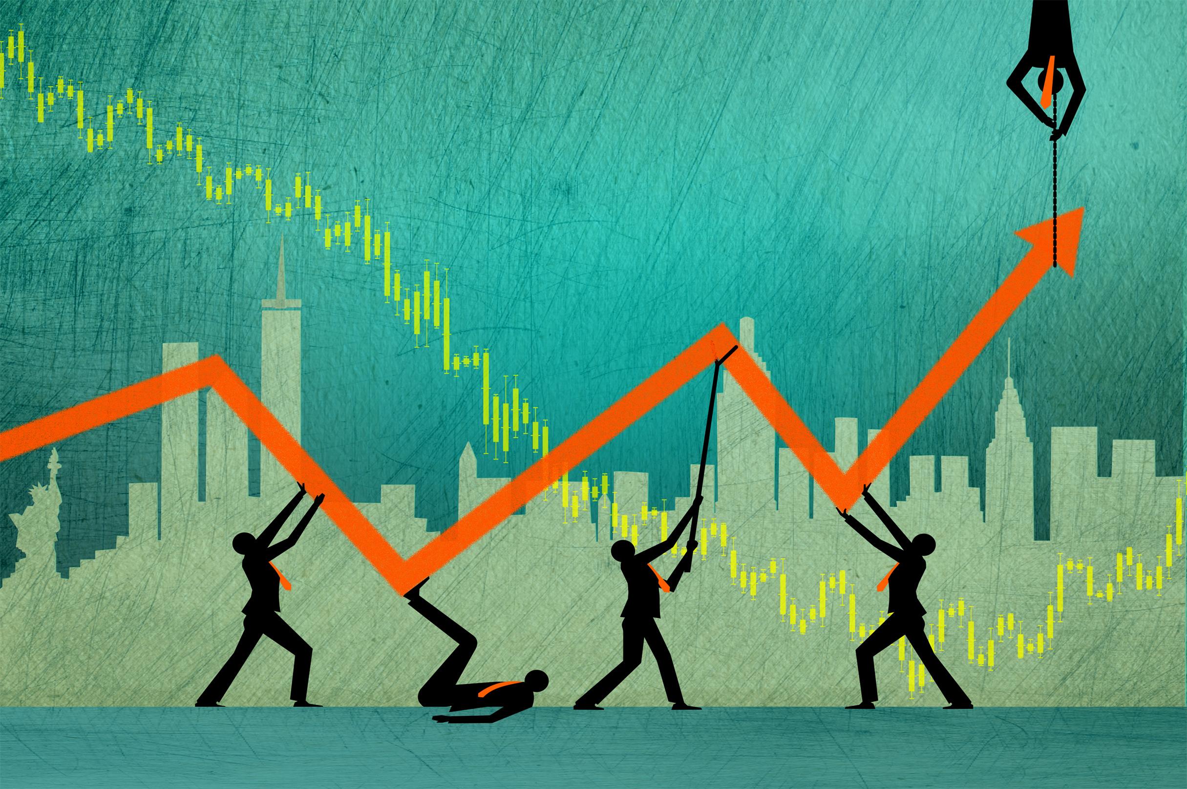 The search for profit when markets are volatile photo