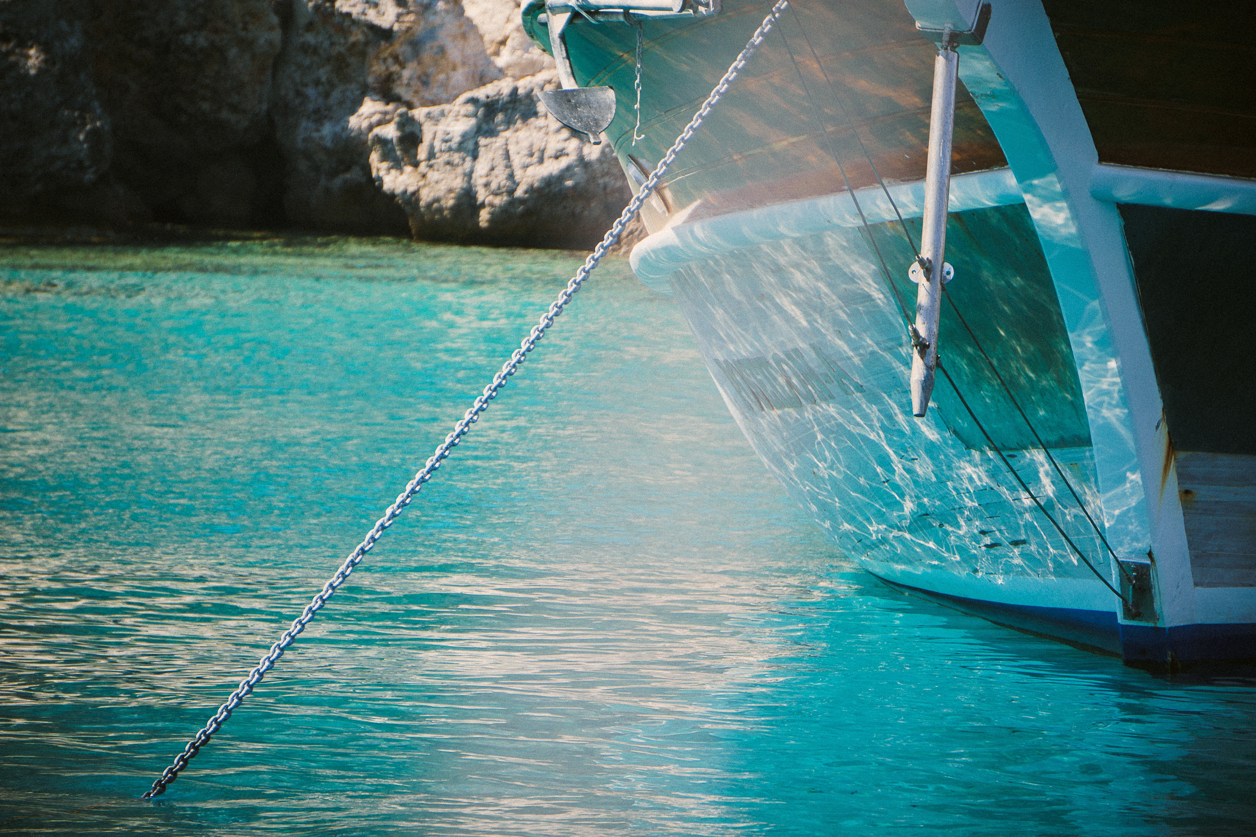 The Ship in the Water, Beach, Blue, Boat, Flow, HQ Photo