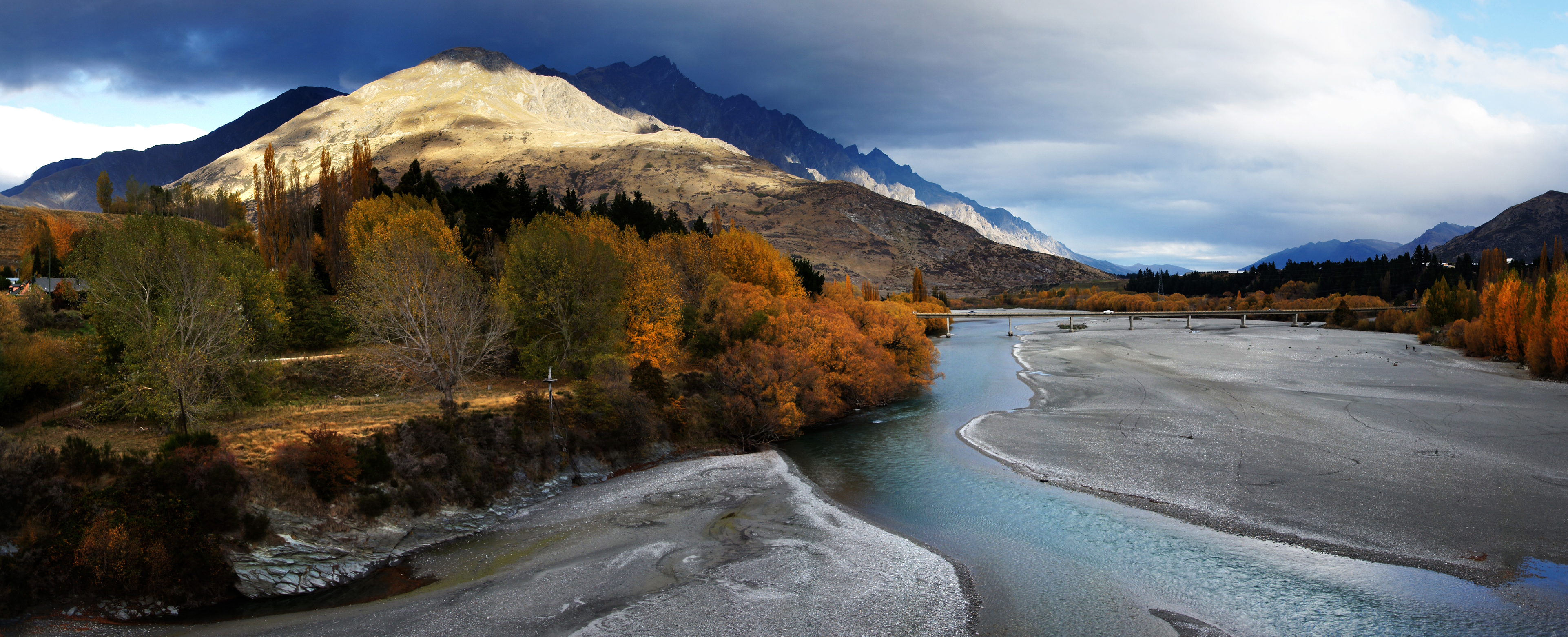 The Shotover River. Otago NZ, Autumn, Fourseasons, Free photos, Geo tagged, HQ Photo