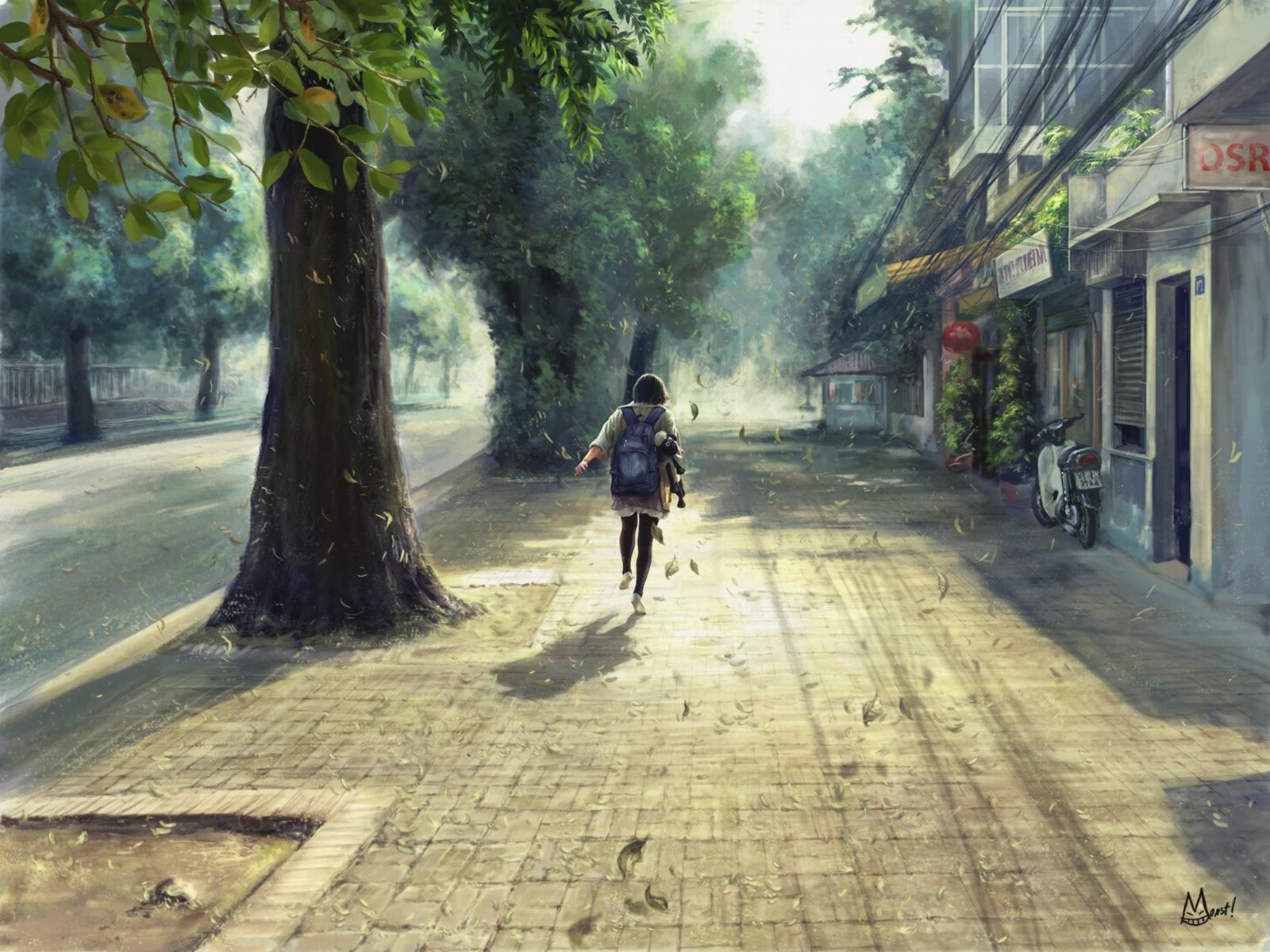 Running Down The Street Wallpaper | 1600x1200 | ID:13399 ...