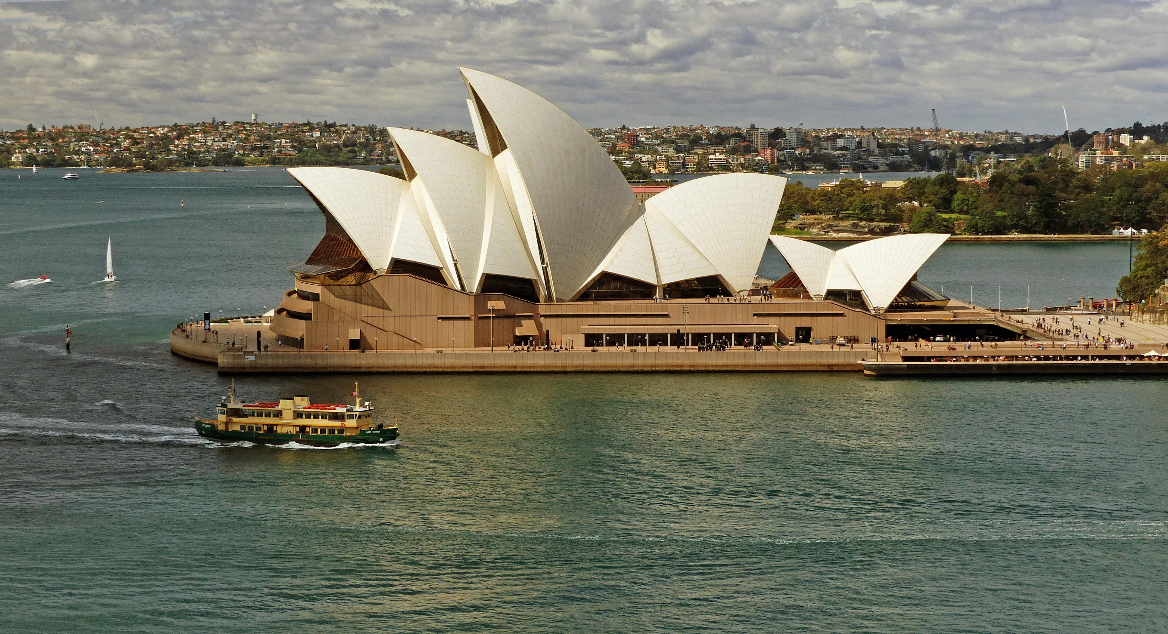 The Sydney Opera House., Boat, Boats, Buildings, Free photos, HQ Photo