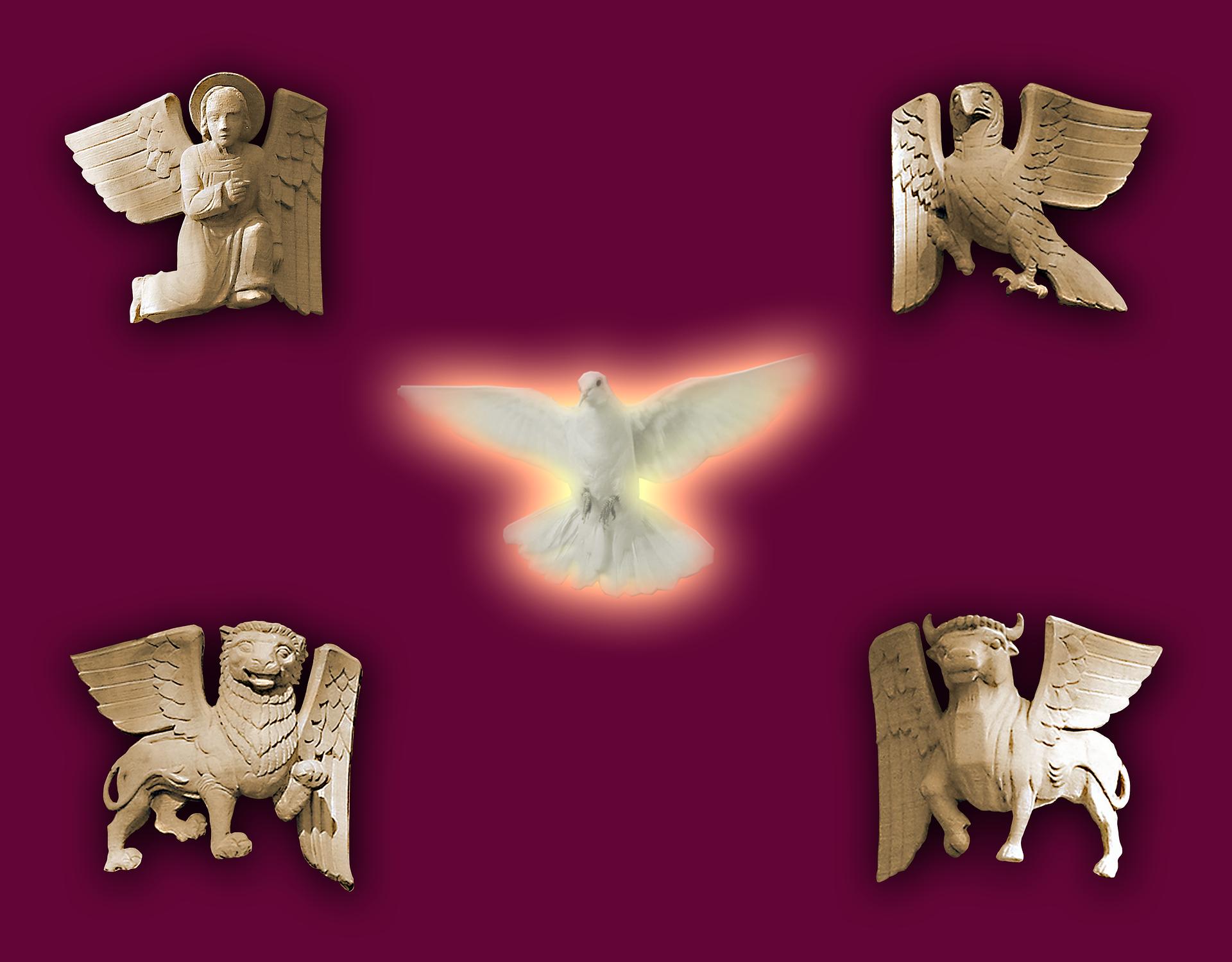 The symbols of evangelists photo